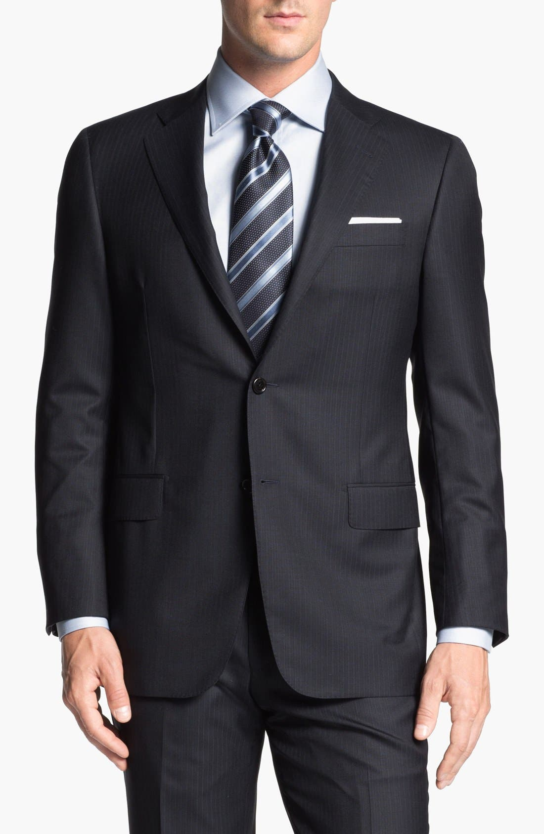 Alternate Image 5  - Hickey Freeman 'Beacon' Stripe Suit