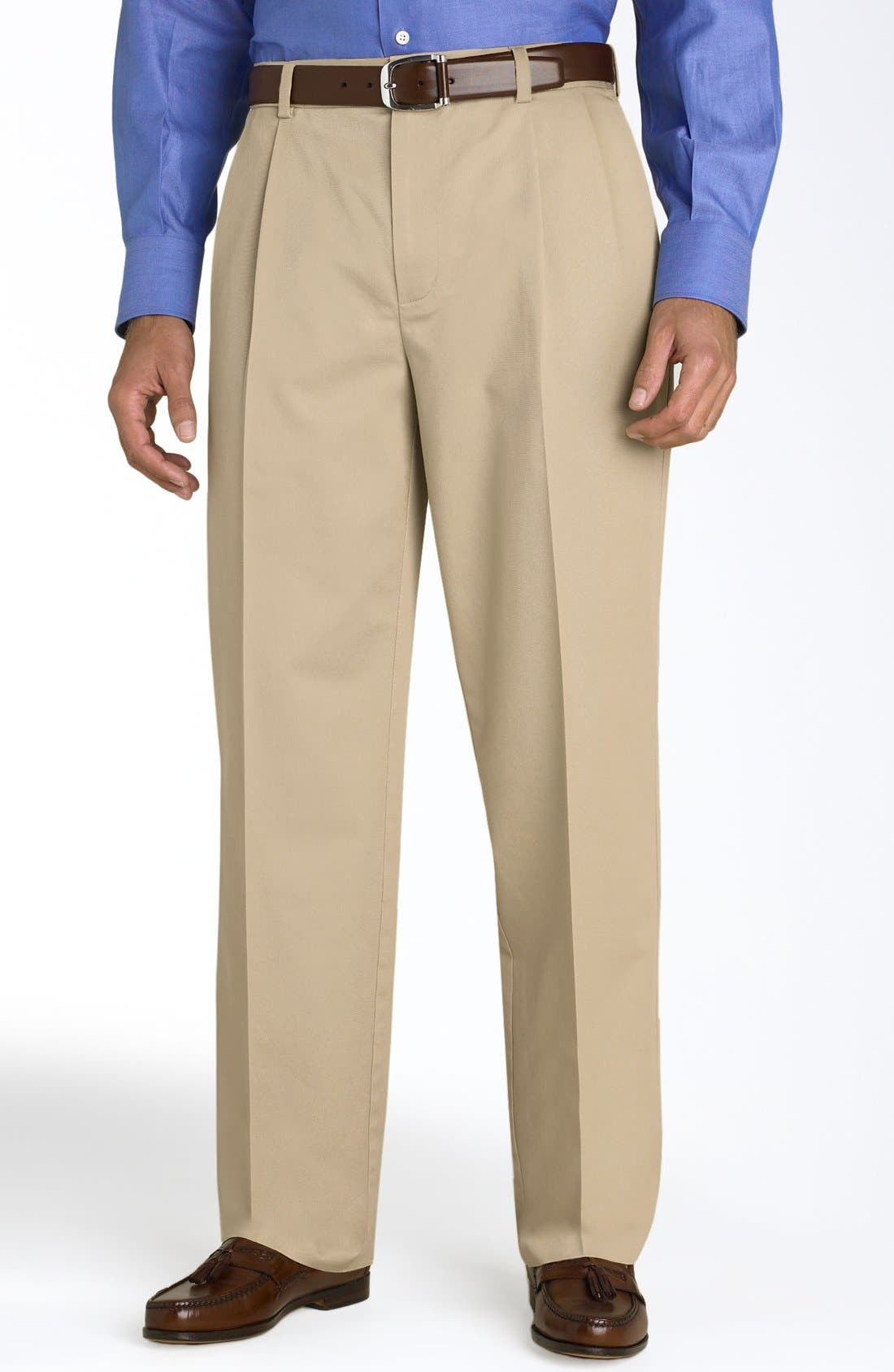 Main Image - Nordstrom Smartcare™ Double Pleated Pants