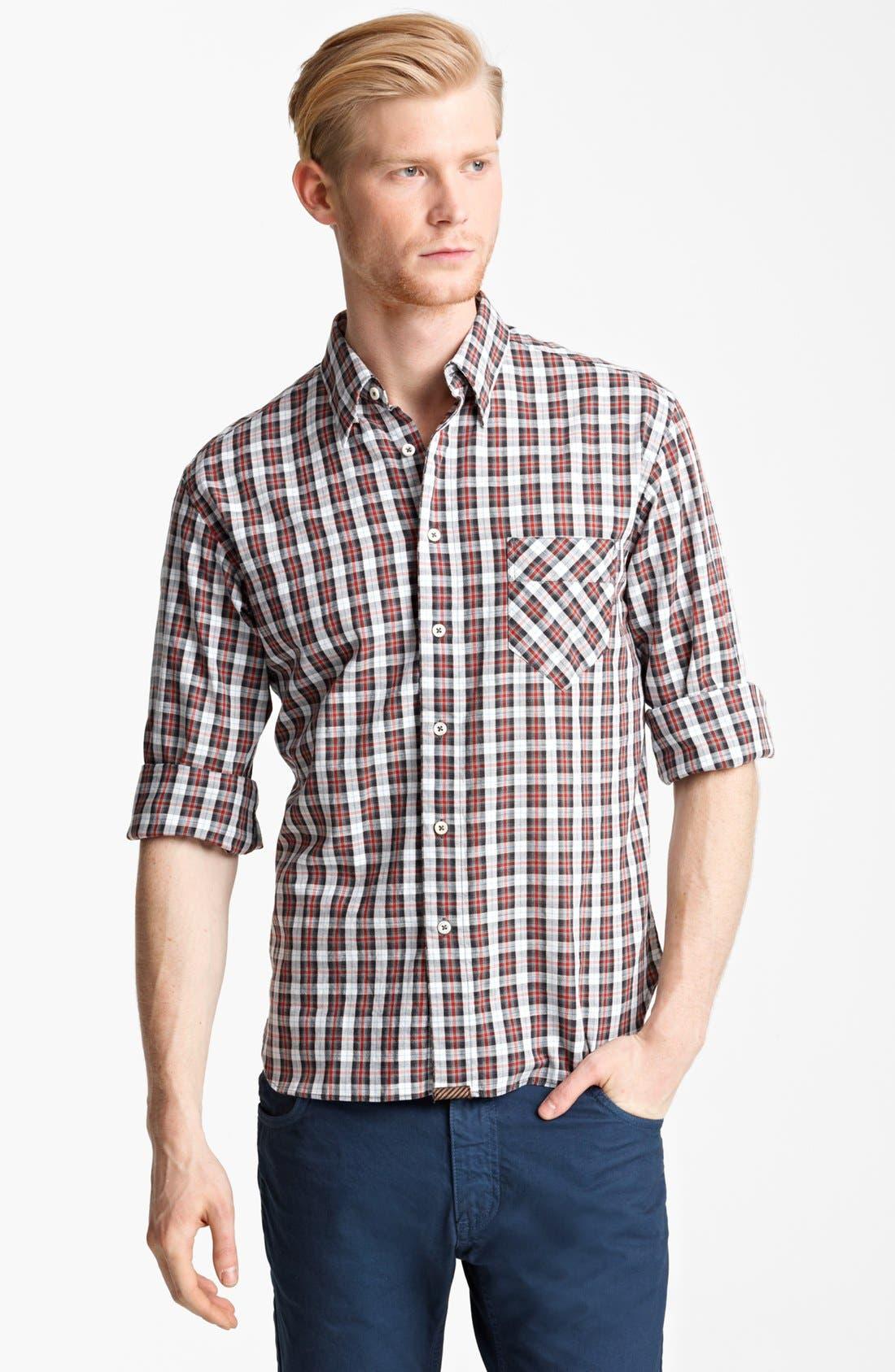 Alternate Image 1 Selected - Billy Reid 'Walland' Plaid Woven Shirt