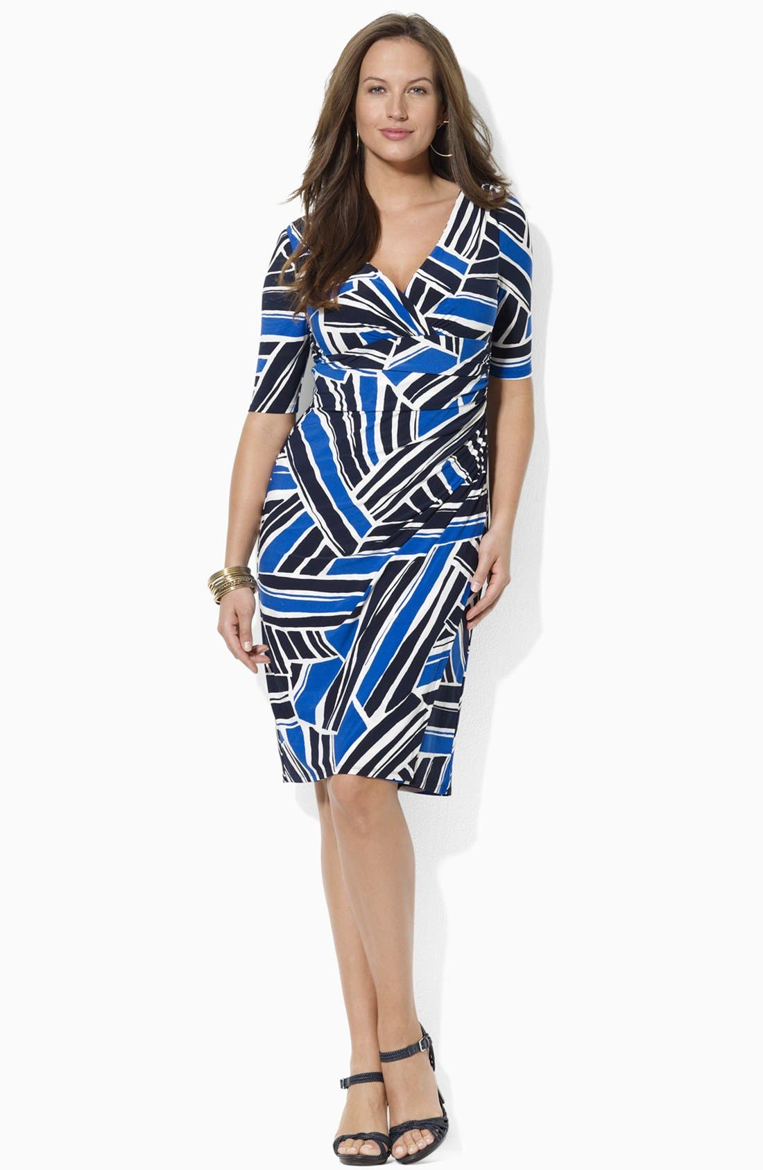 Main Image - Lauren Ralph Lauren Print Jersey Sheath Dress (Plus Size)
