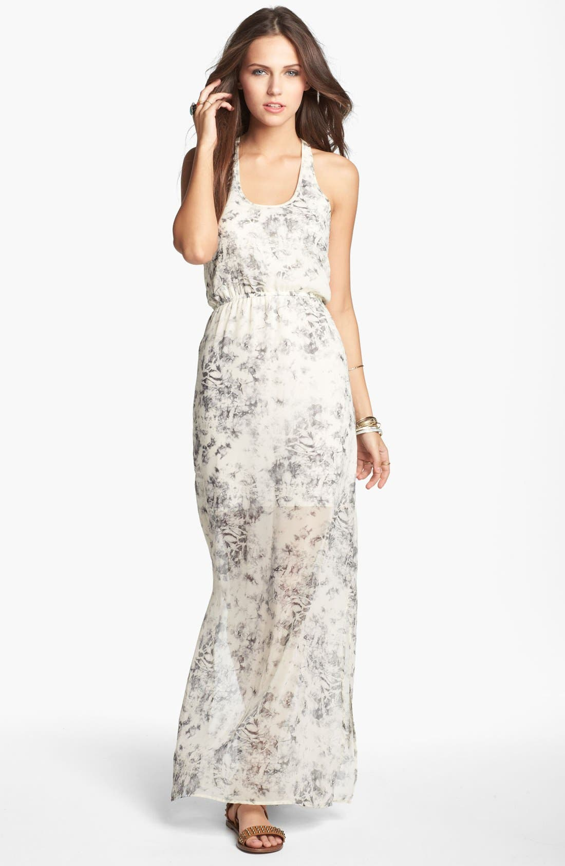 Alternate Image 1 Selected - dee elle Knot Back Maxi Dress (Juniors)