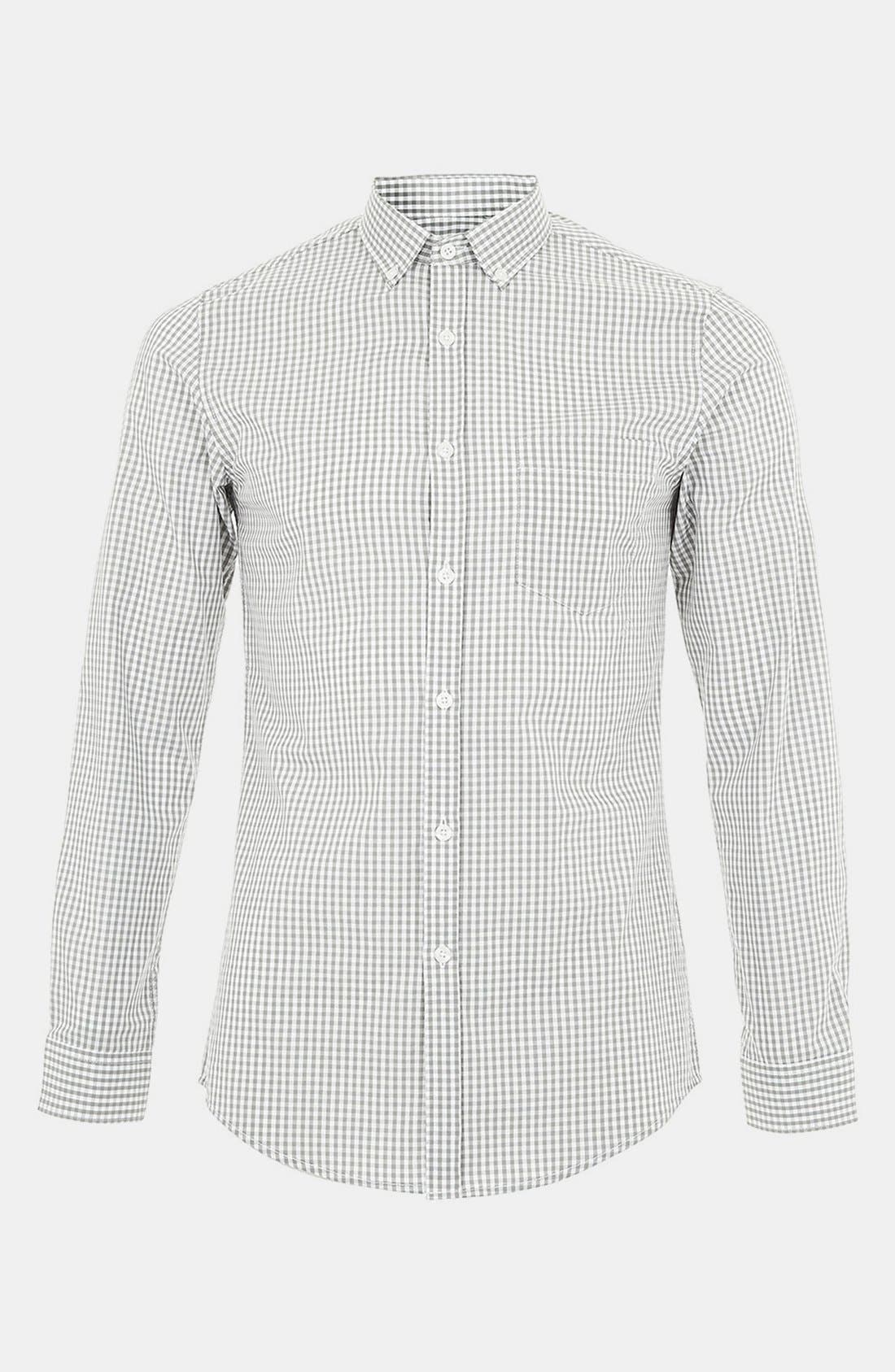 Alternate Image 1 Selected - Topman Gingham Check Shirt