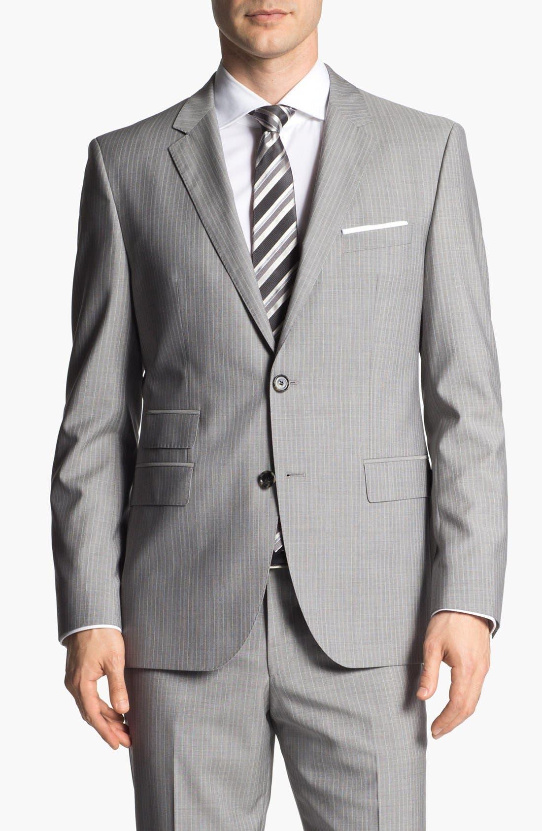 Alternate Image 4  - BOSS HUGO BOSS 'The Sweet/Sharp' Trim Fit Stripe Suit