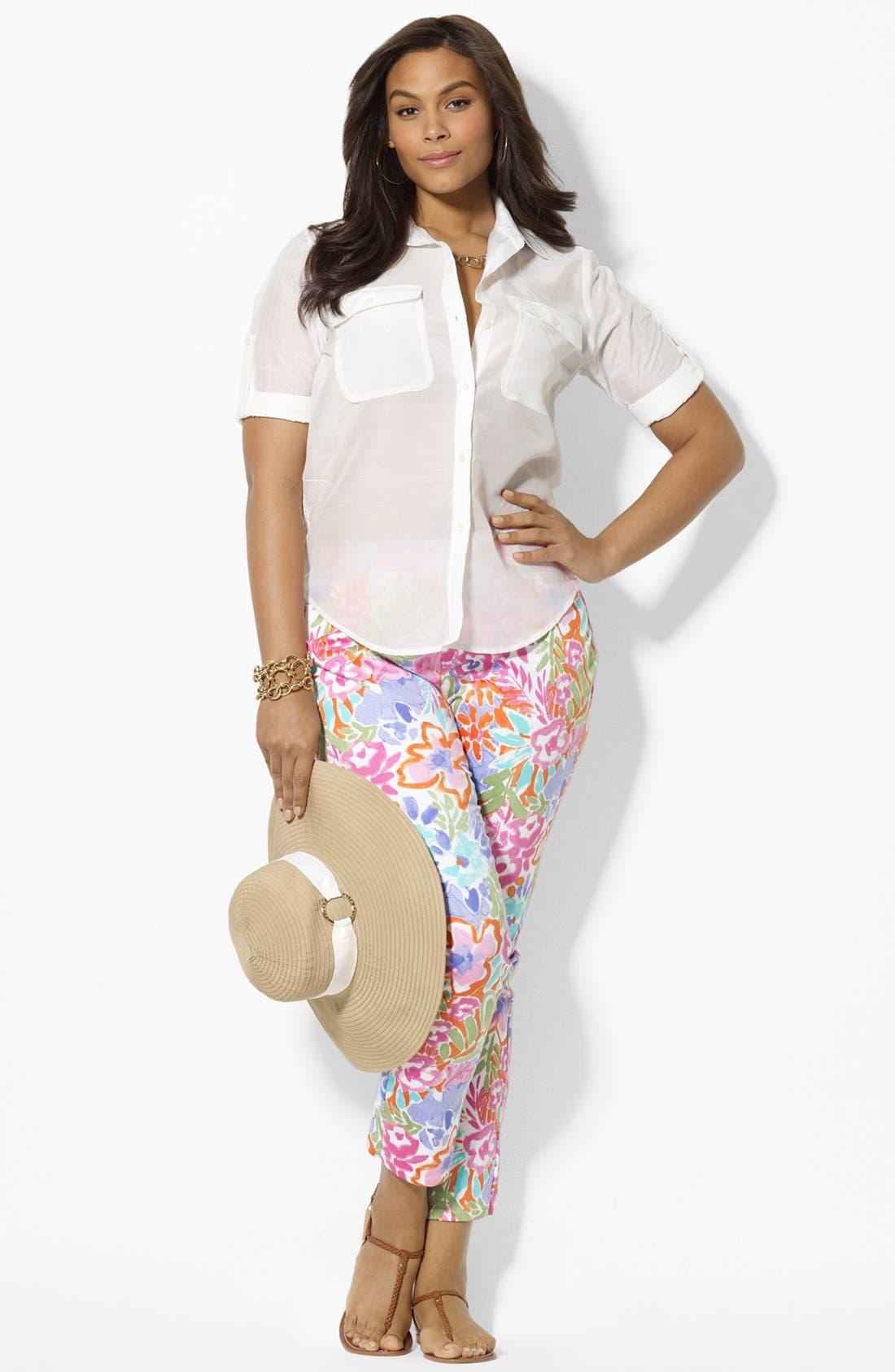 Alternate Image 5  - Lauren Ralph Lauren Modern Skinny Ankle Pants (Plus Size)