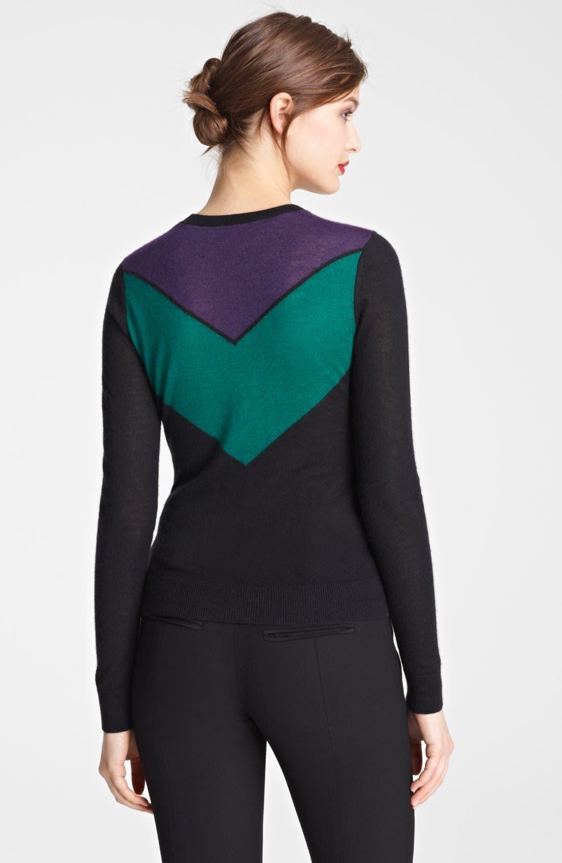 Alternate Image 2  - Jason Wu Chevron Cashmere & Silk Sweater