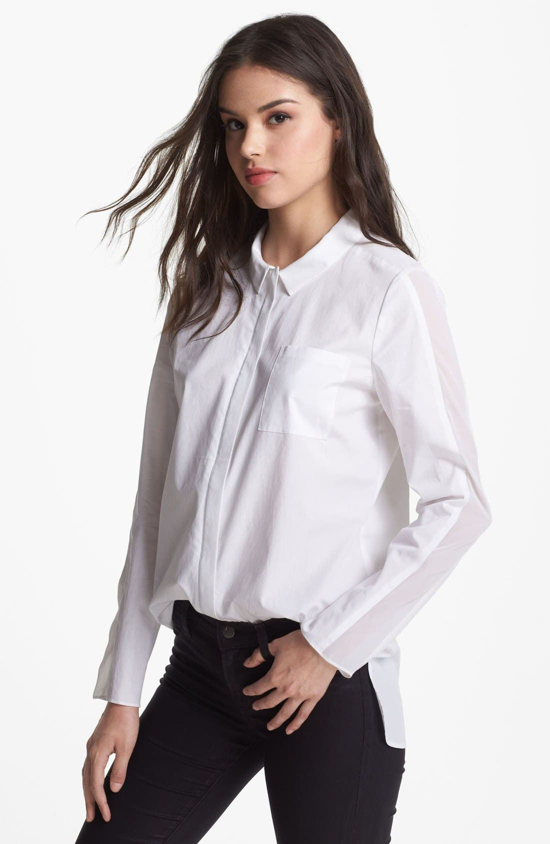 Main Image - Trouvé Tux Stripe Poplin Shirt