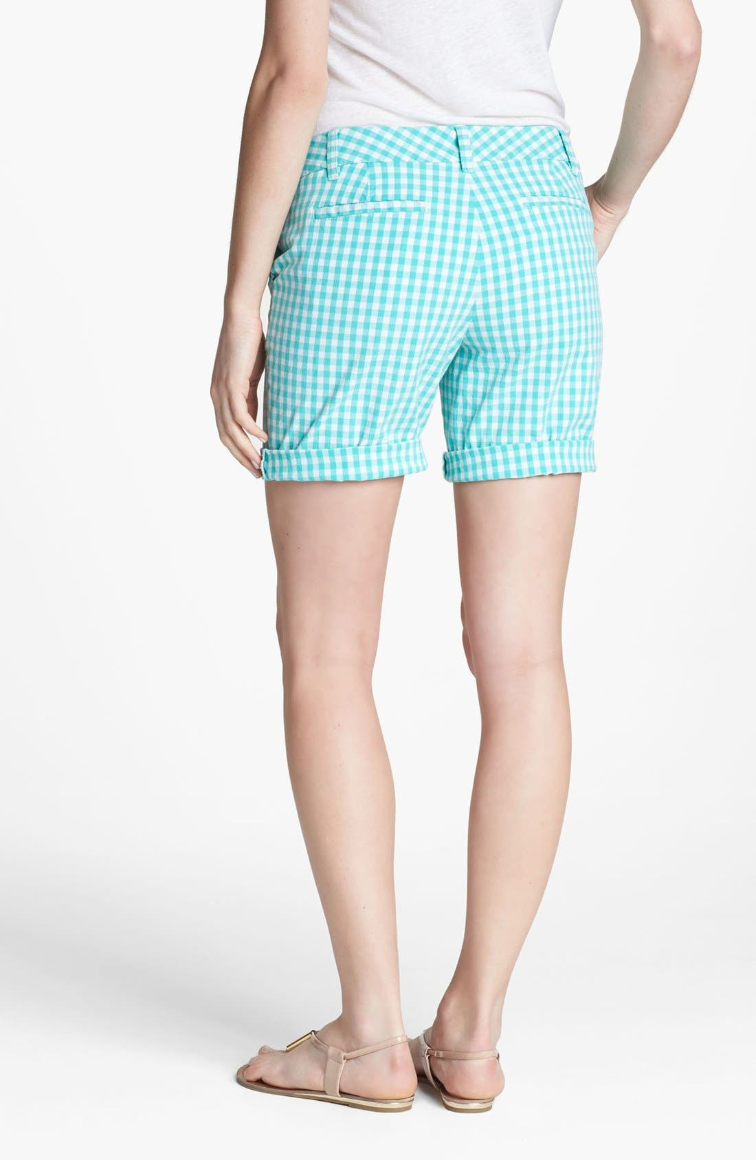 Alternate Image 2  - Caslon® Clean Front Nine-Inch Shorts (Regular & Petite)