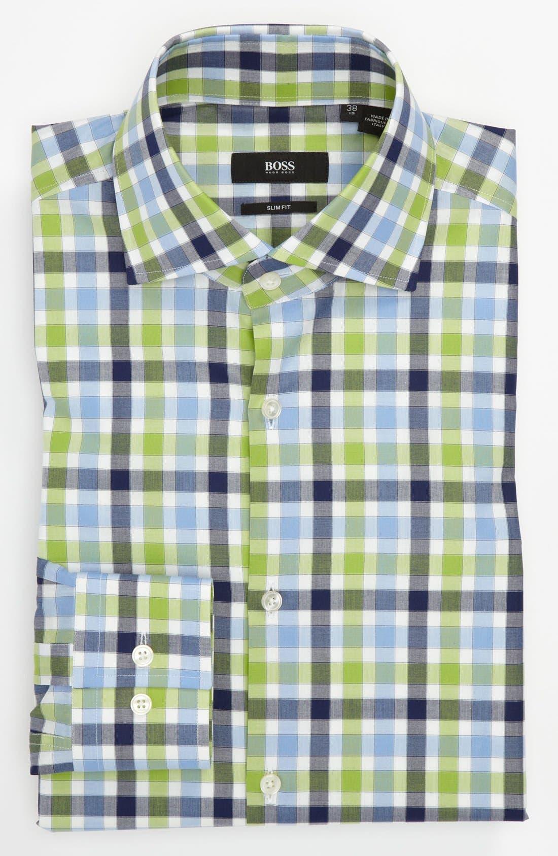 Alternate Image 1 Selected - BOSS HUGO BOSS Slim Fit Dress Shirt