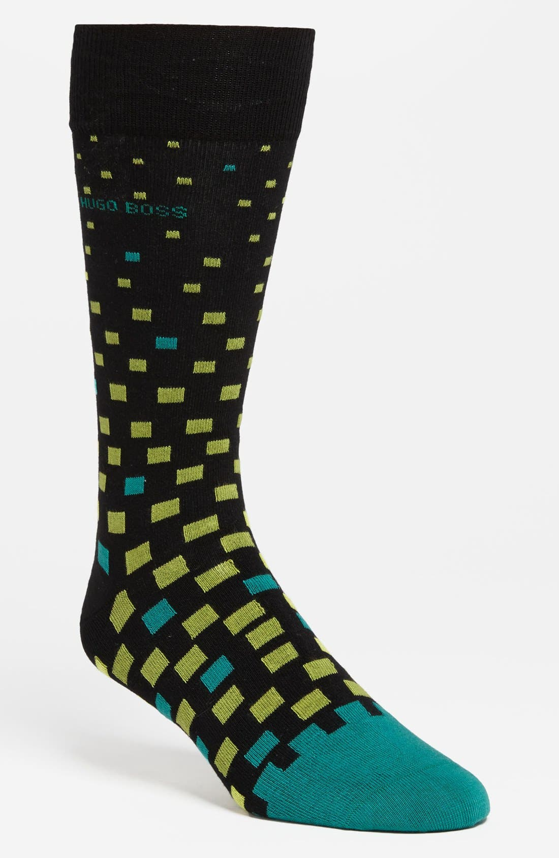 Alternate Image 1 Selected - BOSS Black Combed Cotton Socks