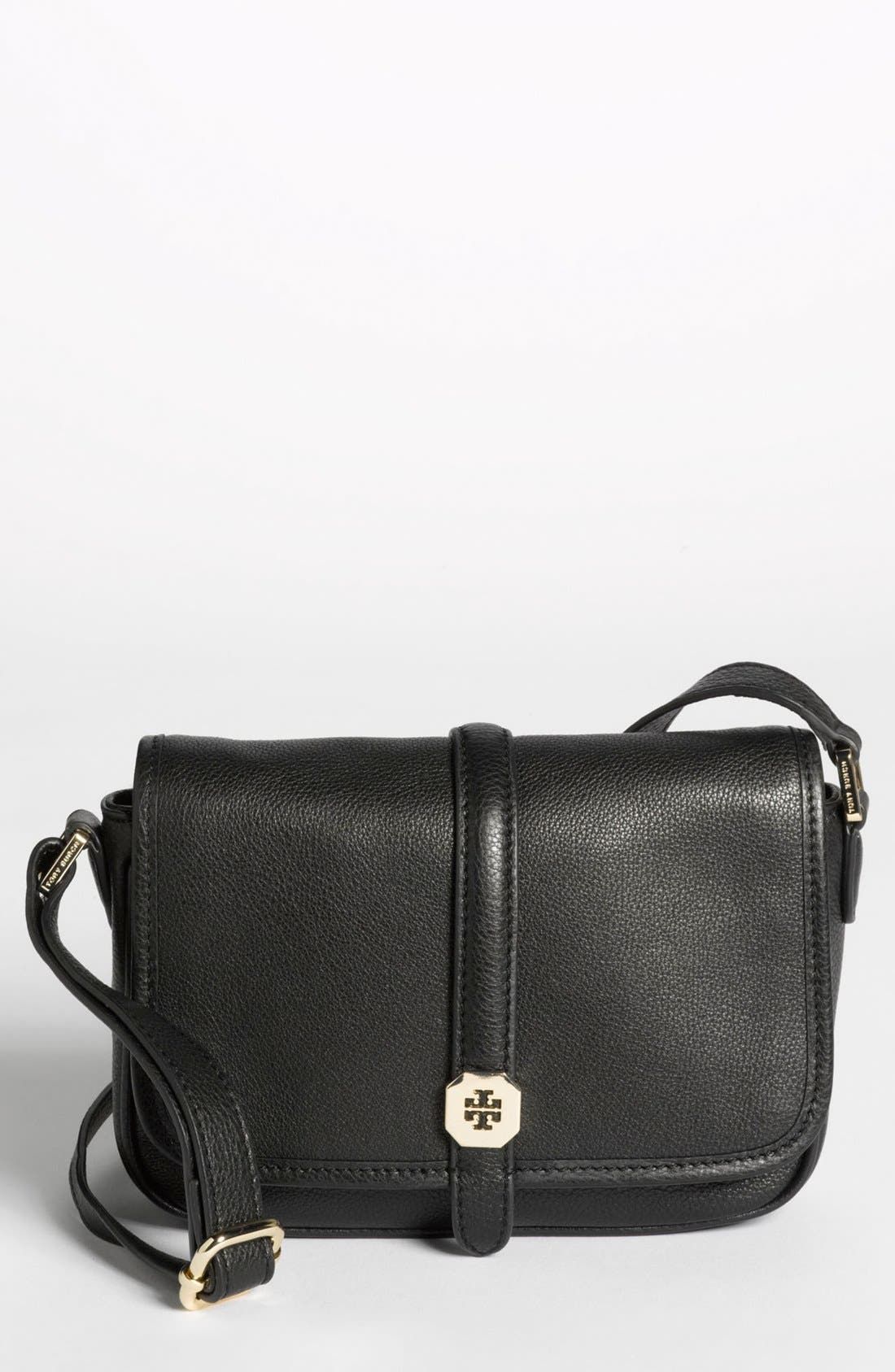 Alternate Image 1 Selected - Tory Burch 'Clay - Mini' Leather Crossbody Bag