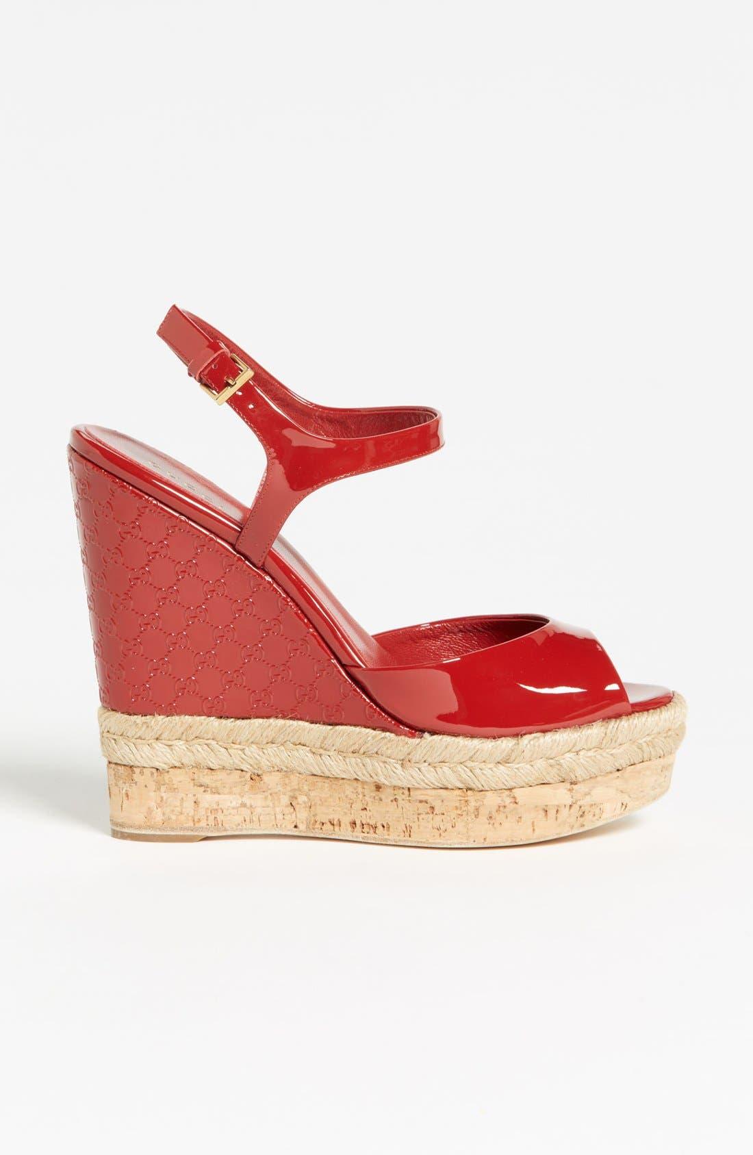 Alternate Image 4  - Gucci 'Hollie' Wedge Sandal