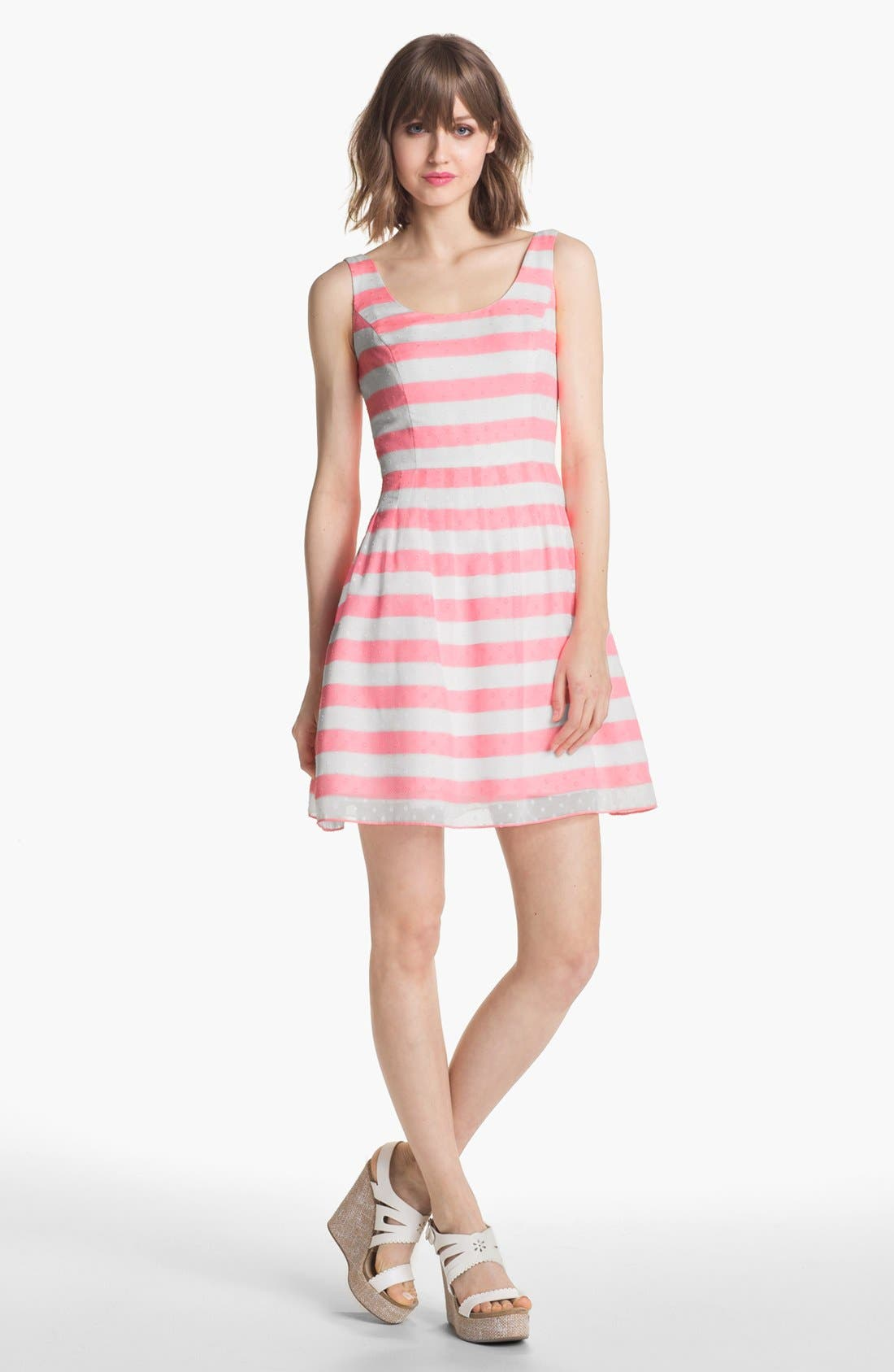 Alternate Image 1 Selected - Lilly Pulitzer® 'Posey' Stripe Fit & Flare Dress