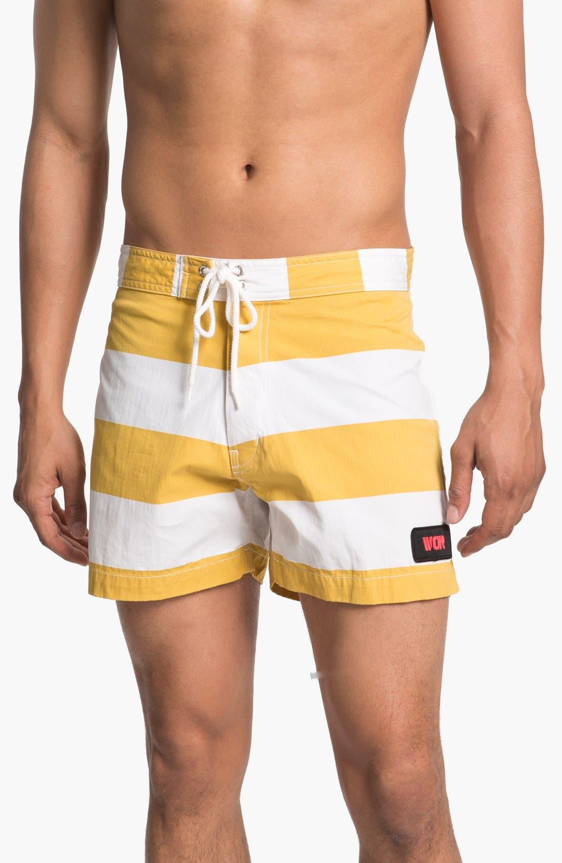 Main Image - Warriors of Radness Classic Stripe Board Shorts