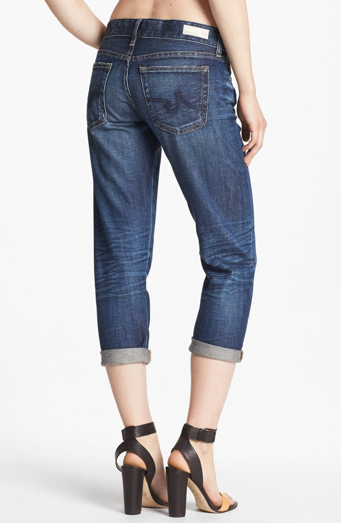 Alternate Image 2  - AG Jeans 'Piper' Crop Slouchy Slim Jeans (Five Year Blue)