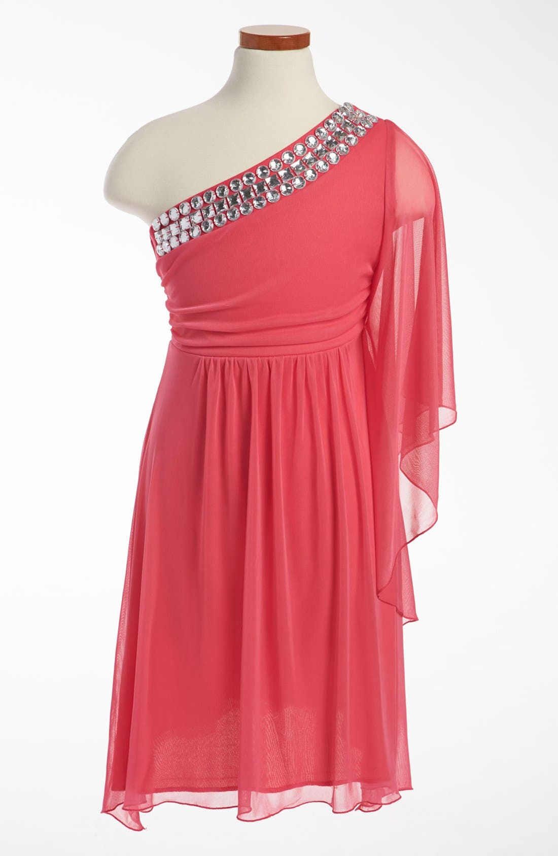 Main Image - Roxette Rhinestone Dress (Big Girls)