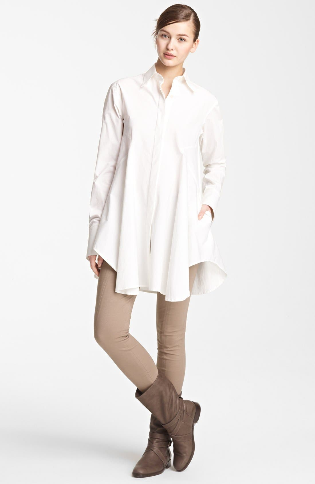 Alternate Image 2  - Donna Karan Collection Easy Stretch Cotton Shirt