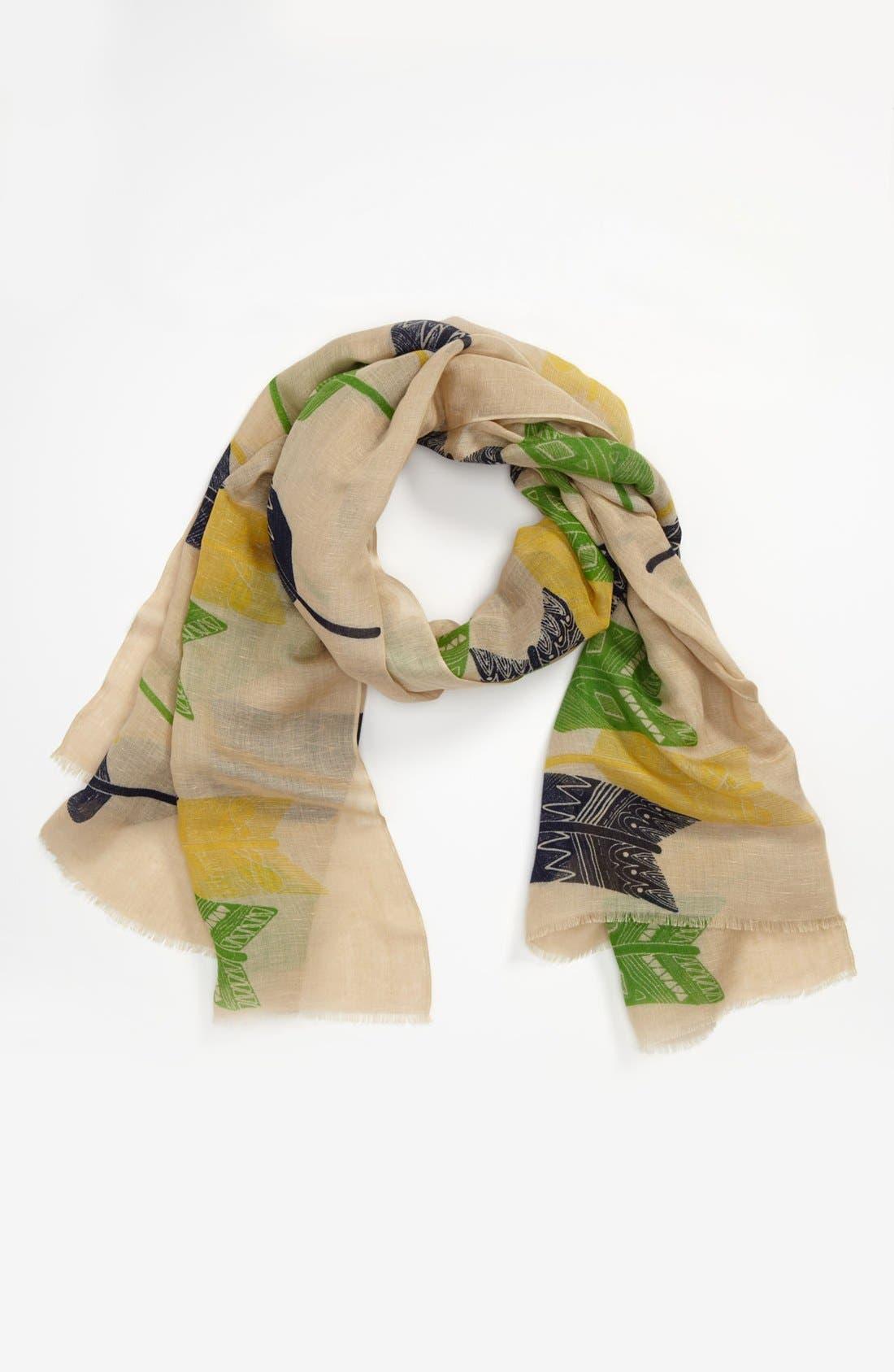 Alternate Image 1 Selected - Yarnz 'Broken Arrows' Linen & Cotton Scarf