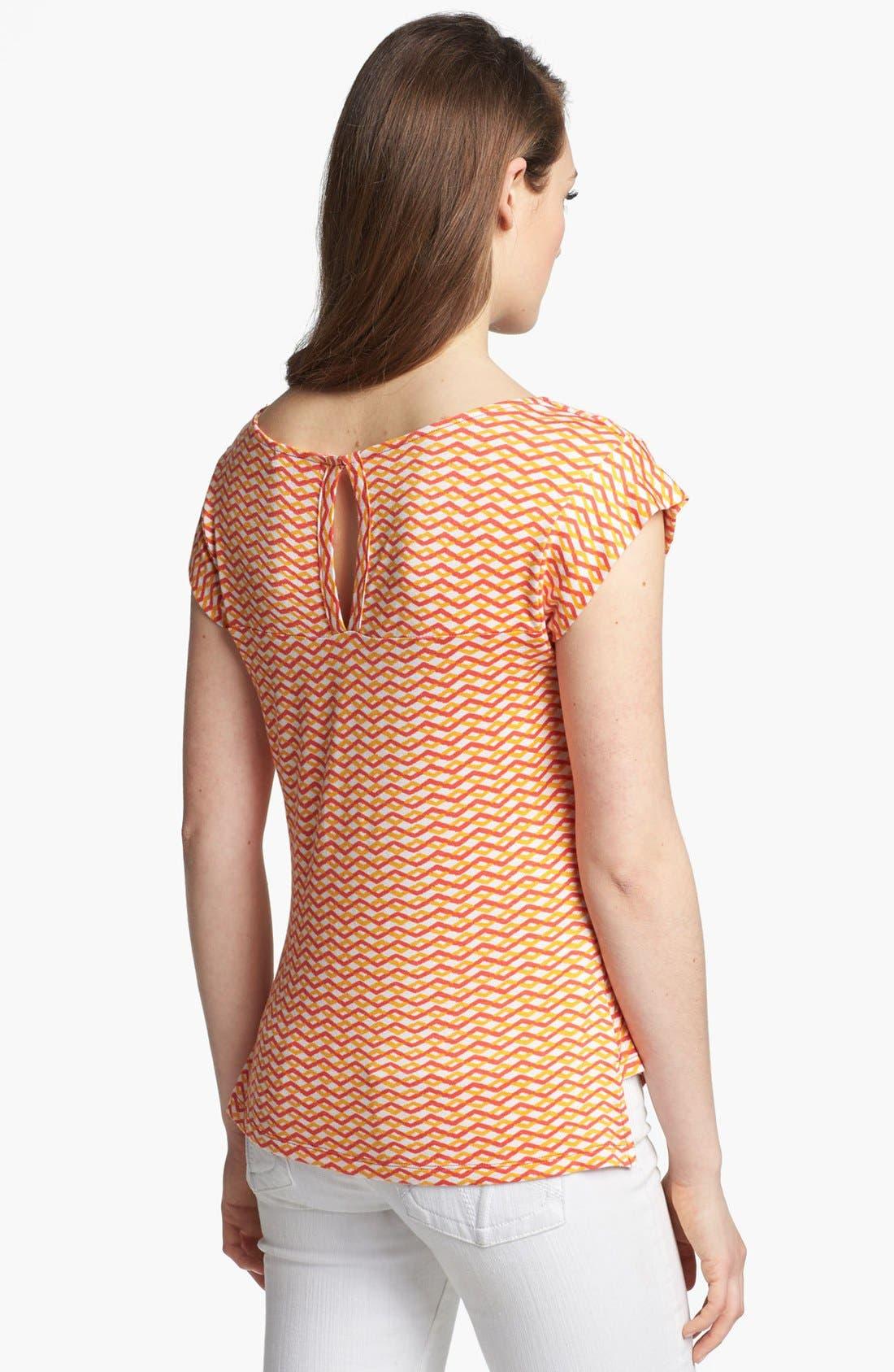 Alternate Image 2  - Pleione Drape Neck Print Top