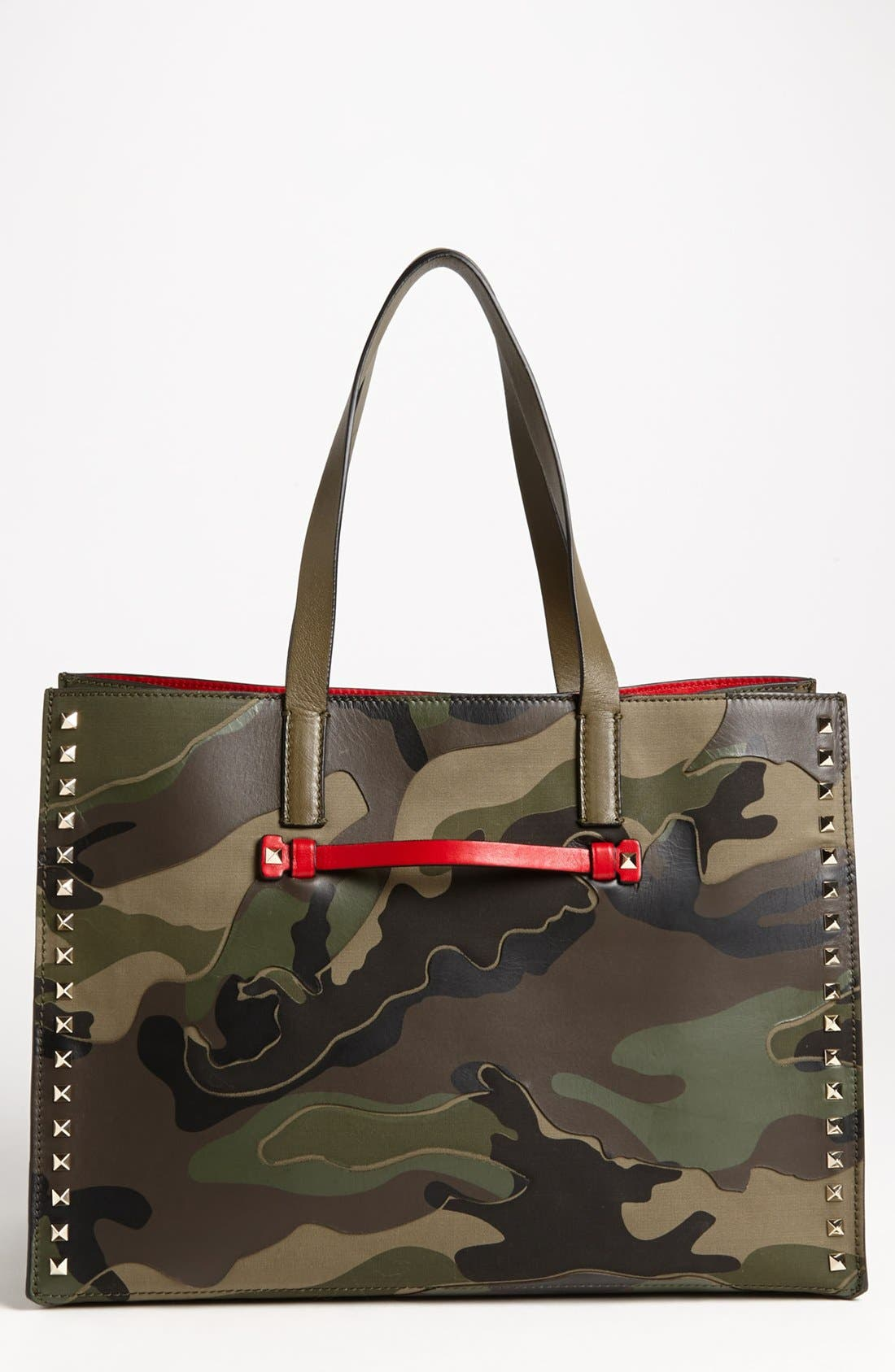 Alternate Image 1 Selected - Valentino 'Rockstud - Camo' Tote