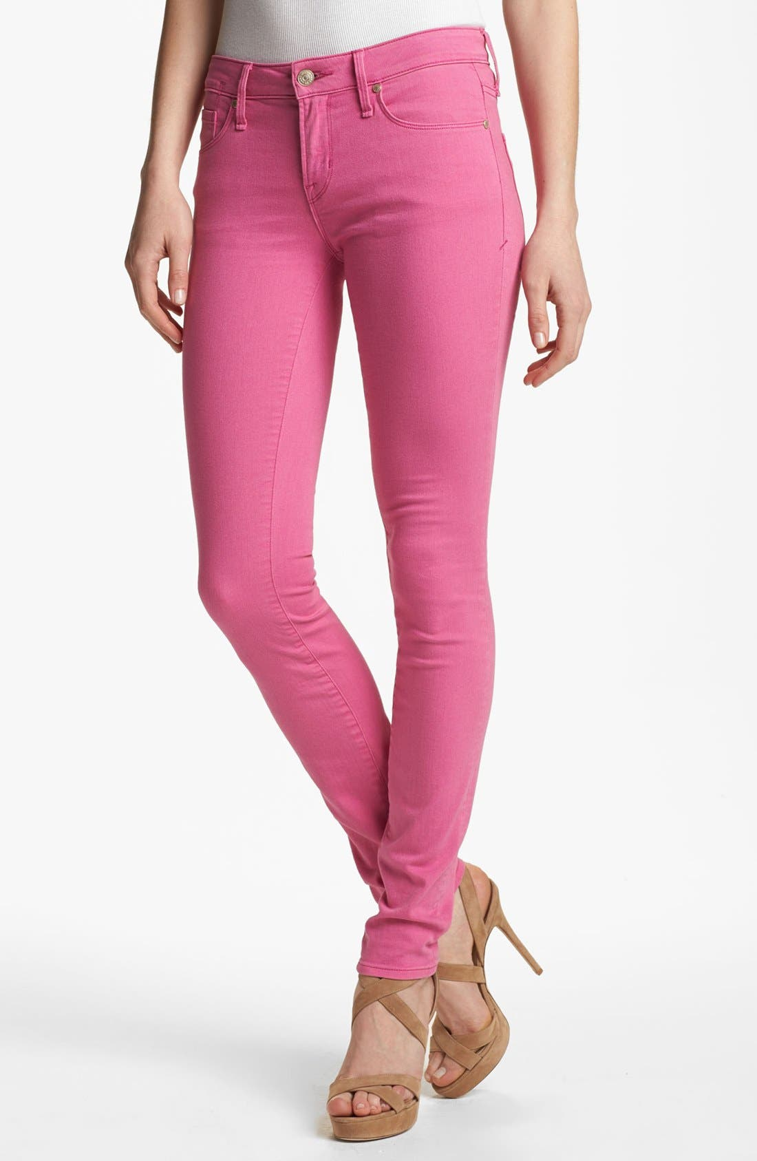 Main Image - MARC BY MARC JACOBS 'Gaia' Colored Super Skinny Stretch Jeans (Magenta Petal)