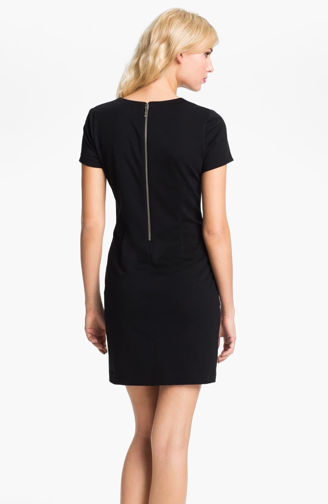 Alternate Image 2  - MICHAEL Michael Kors Studded Short Sleeve Dress (Petite)