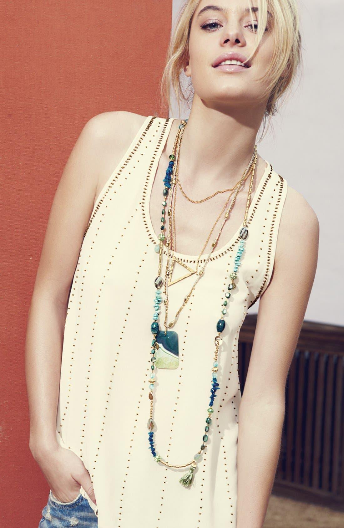 Alternate Image 2  - Sara Bella Extra Long Beaded Necklace