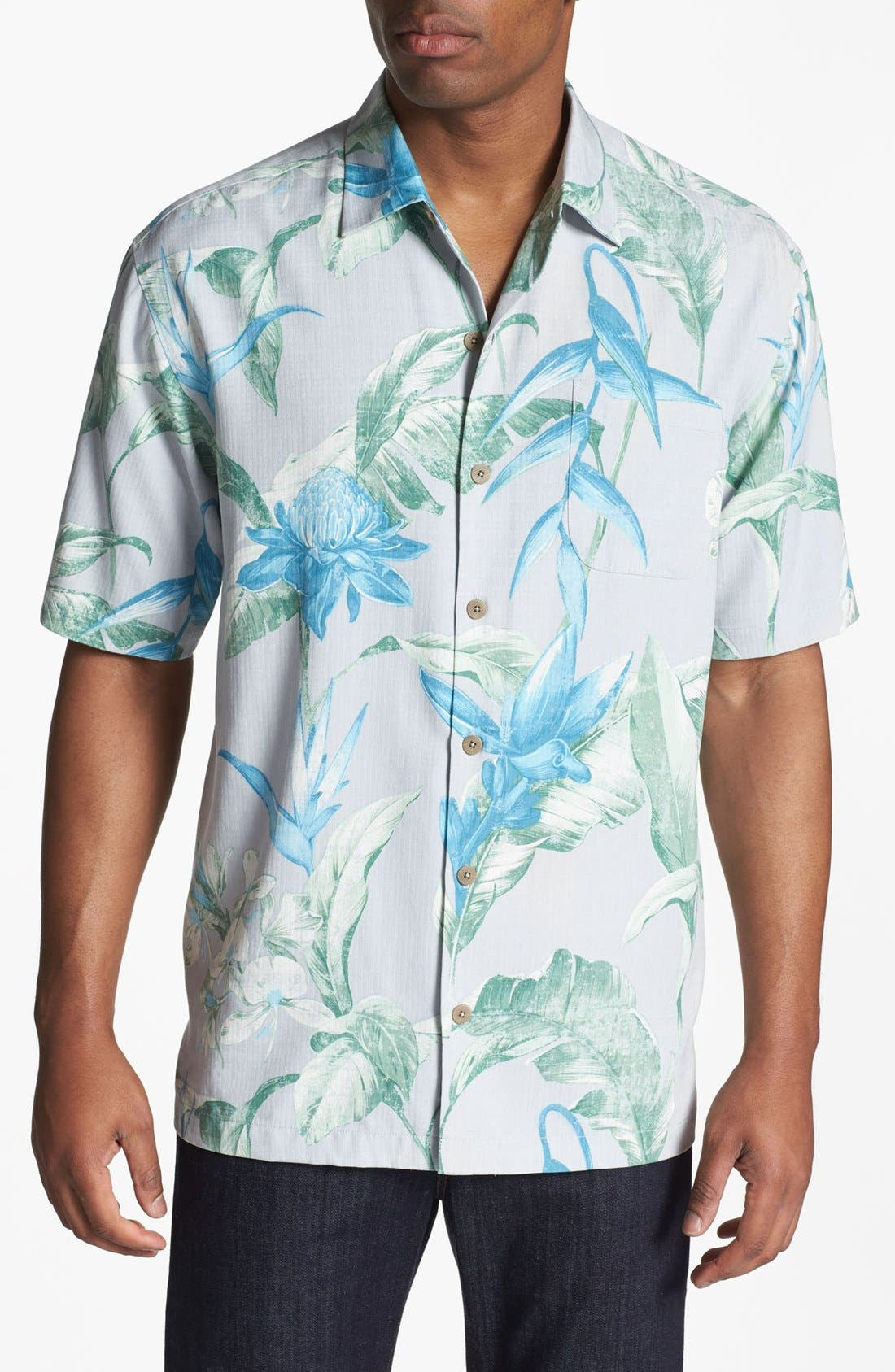 Alternate Image 1 Selected - Tommy Bahama 'Sal de Mar' Silk Campshirt