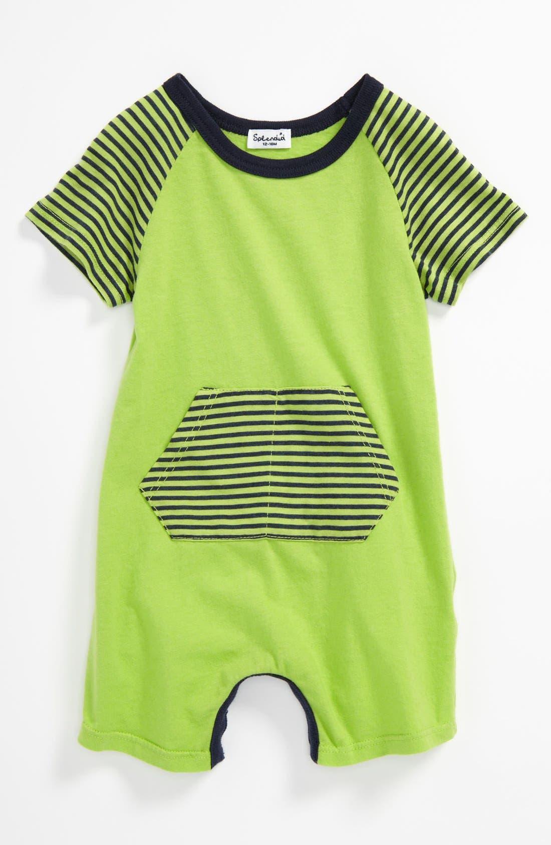 Alternate Image 1 Selected - Splendid Short Sleeve Romper (Baby)