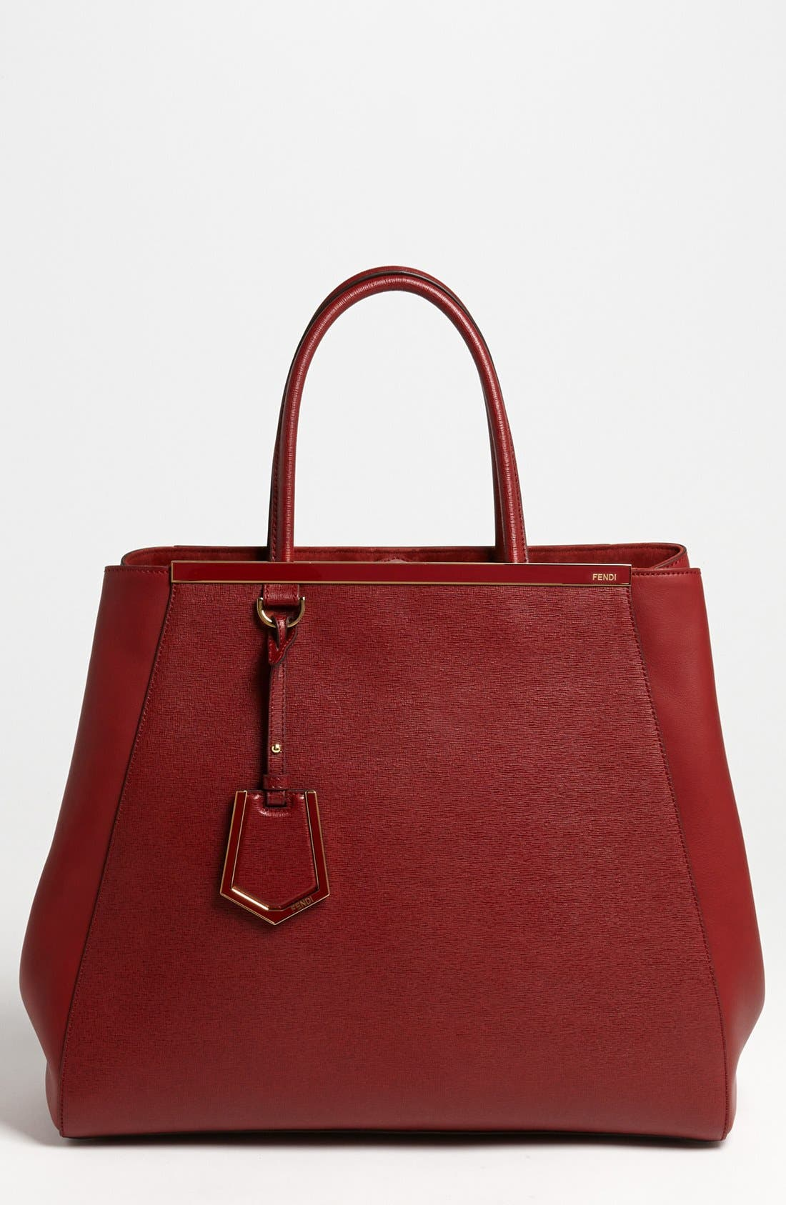 Alternate Image 1 Selected - Fendi '2Jours Elite - Large' Leather Shopper