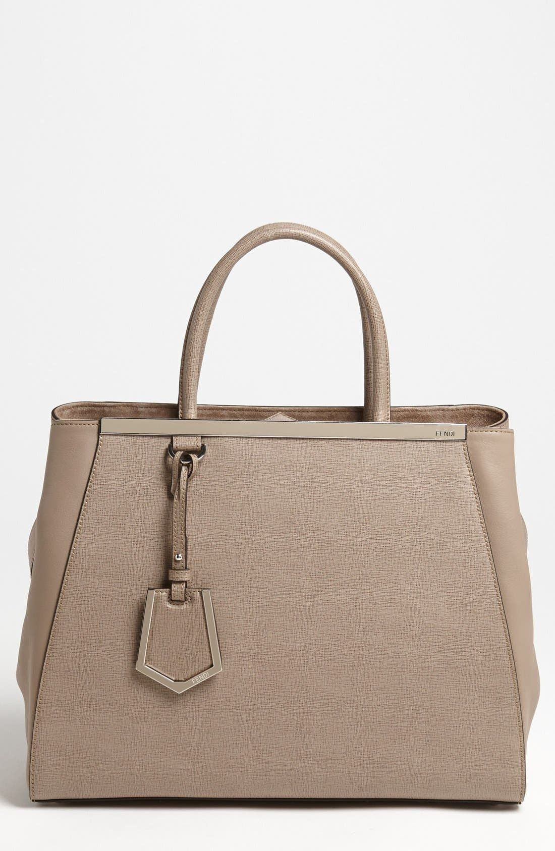 Alternate Image 1 Selected - Fendi '2Jours Elite' Leather Shopper