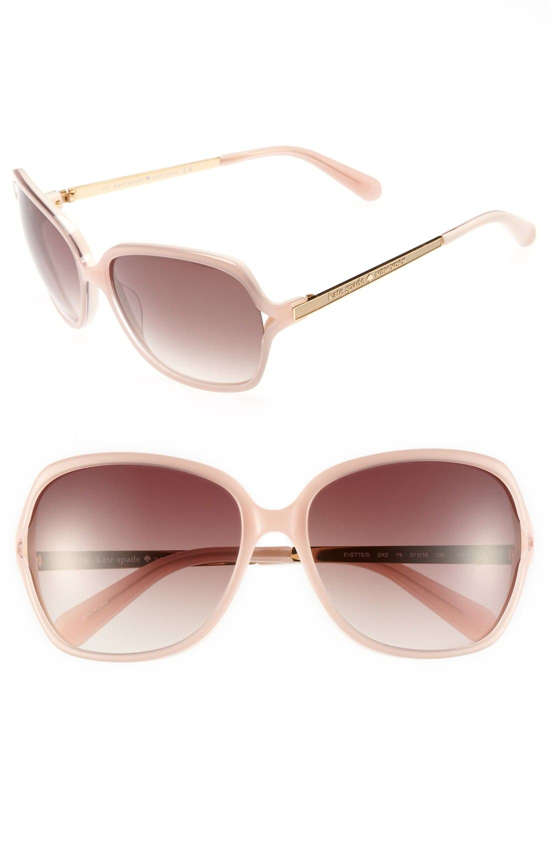 Main Image - kate spade new york 'evette' 57mm oversized sunglasses