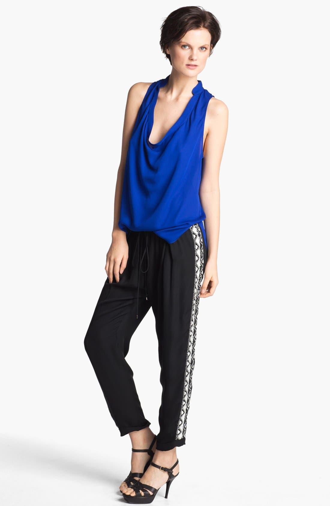 Alternate Image 4  - Haute Hippie Beaded Silk Trousers