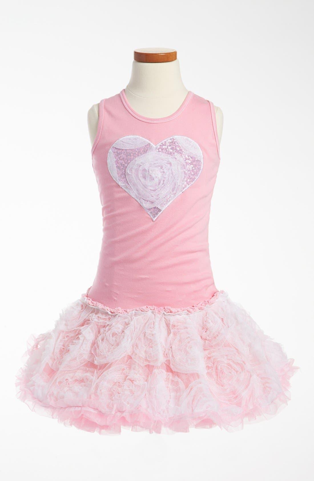 Alternate Image 1 Selected - Ooh! La, La! Couture Tulle Flower Dress (Little Girls & Big Girls)