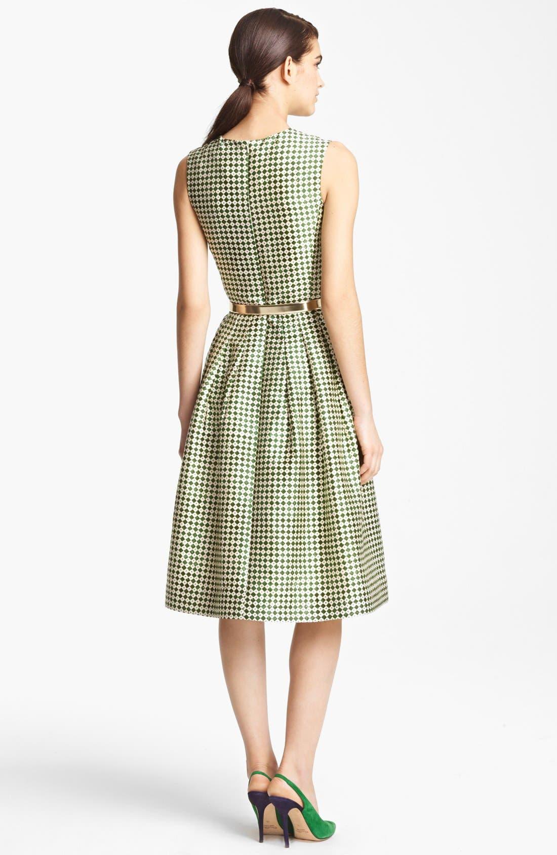 Alternate Image 2  - Oscar de la Renta Print Full Skirt Dress