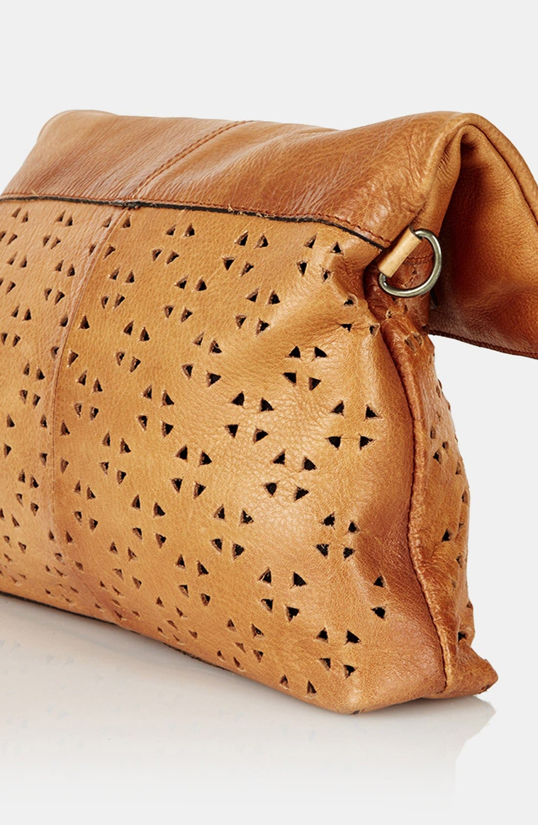 Alternate Image 3  - Topshop Perforated Leather Crossbody Bag