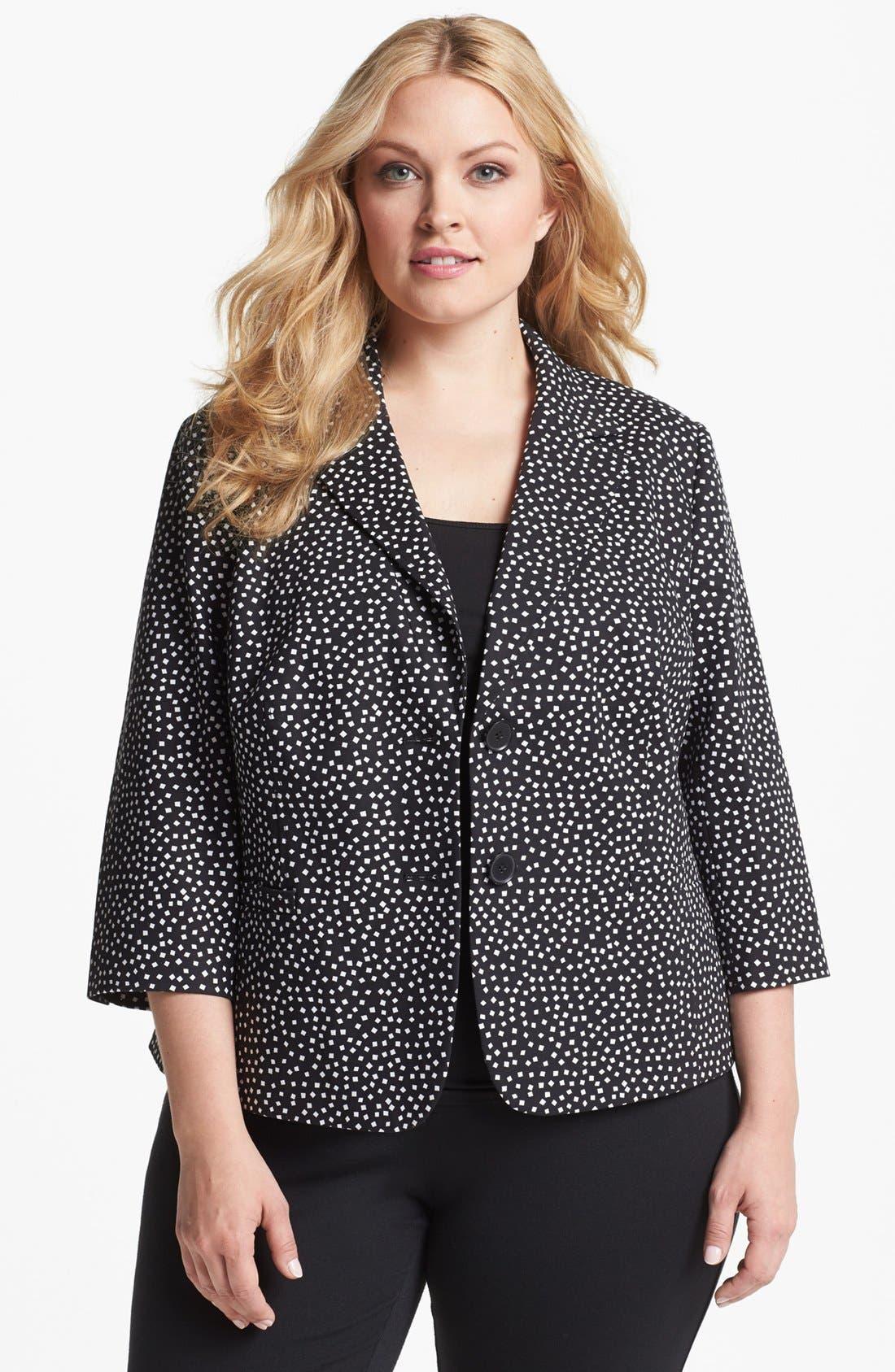 Alternate Image 1 Selected - Sejour Stretch Cotton Jacket (Plus Size)