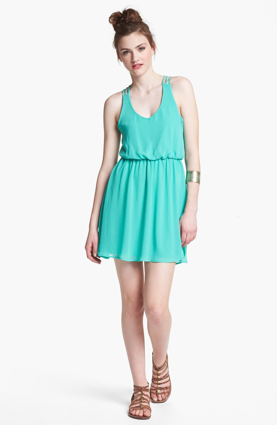 Alternate Image 1 Selected - Lush Multi Strap Dress (Juniors)