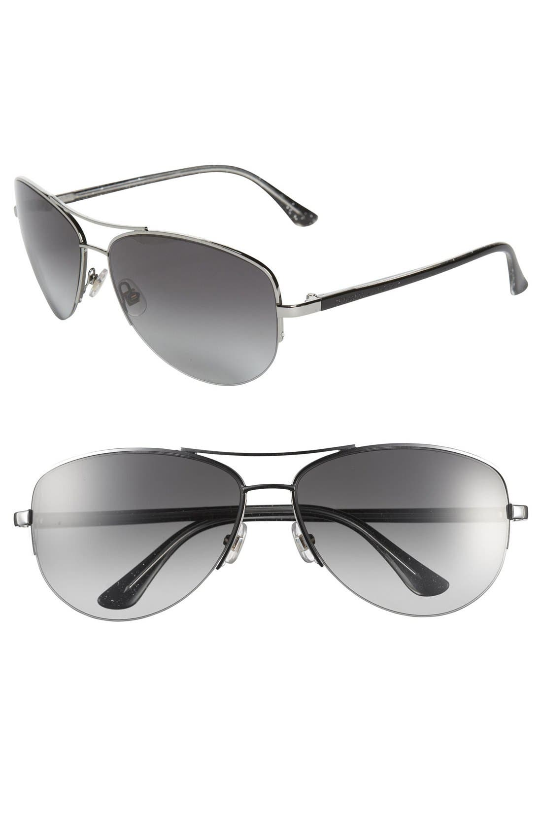 Main Image - kate spade new york 'elysia' 61mm rimless aviator sunglasses