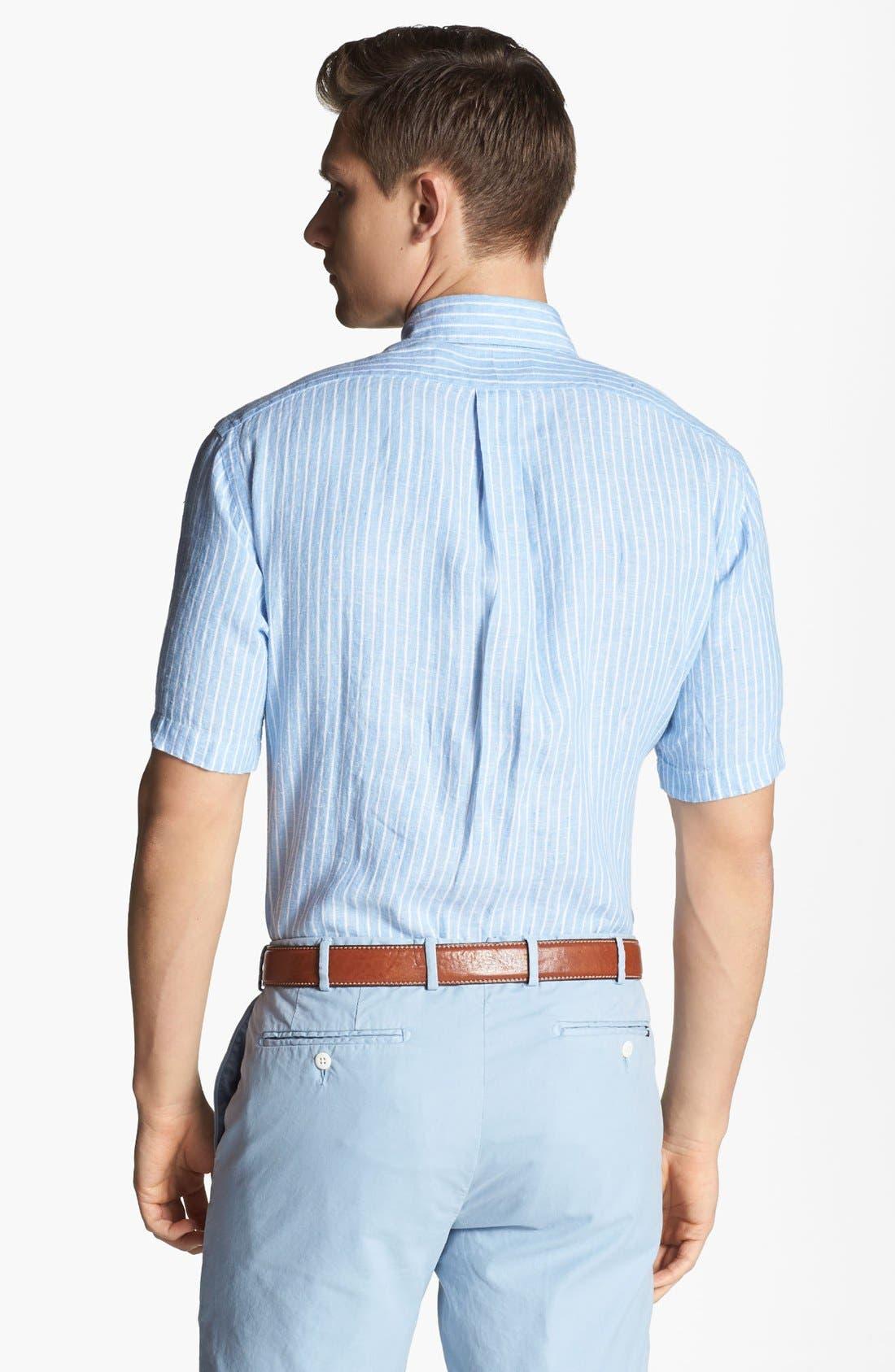 Alternate Image 2  - Polo Ralph Lauren Classic Fit Linen Sport Shirt