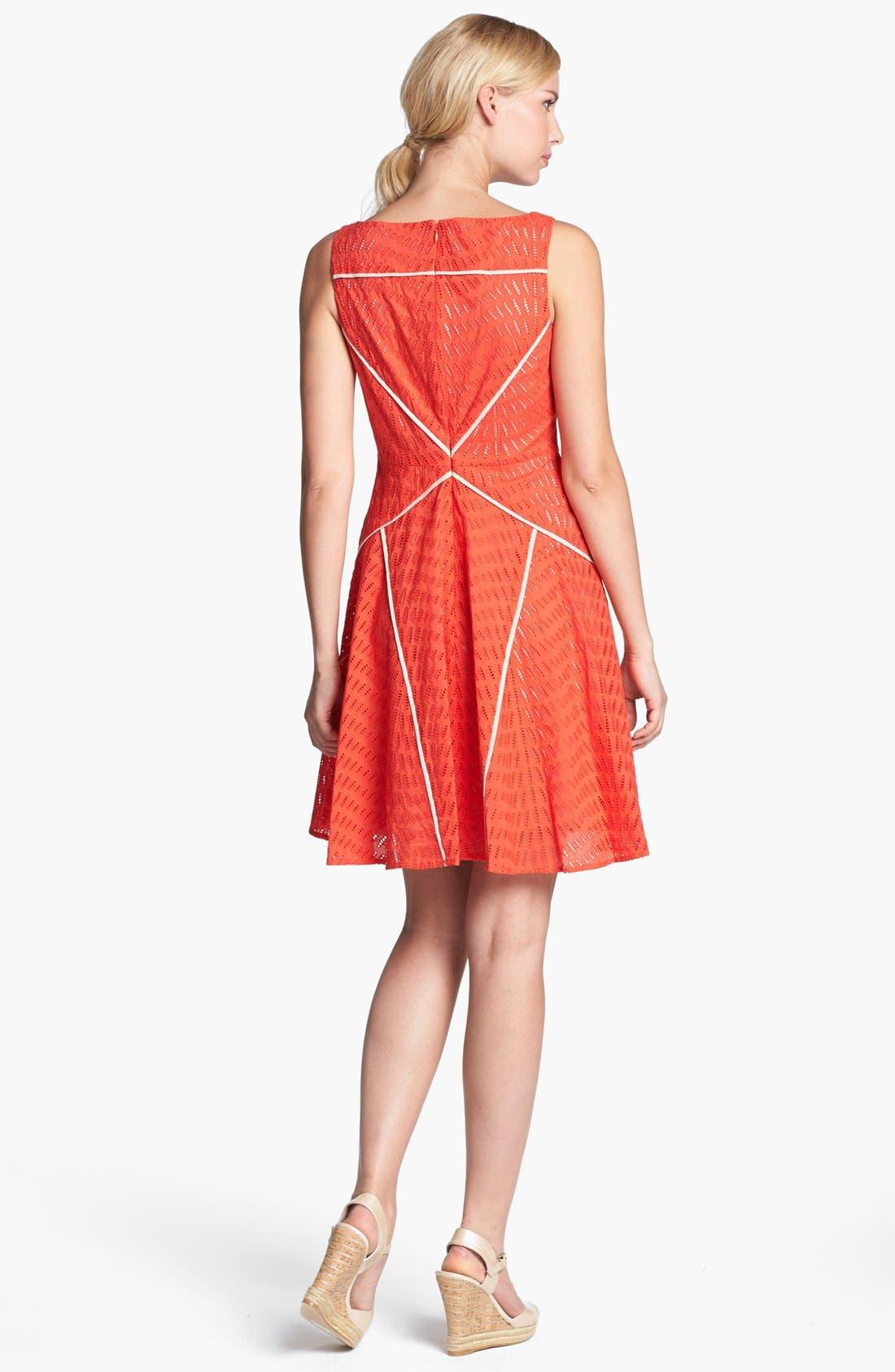 Alternate Image 2  - Vince Camuto Sleeveless Fit & Flare Dress