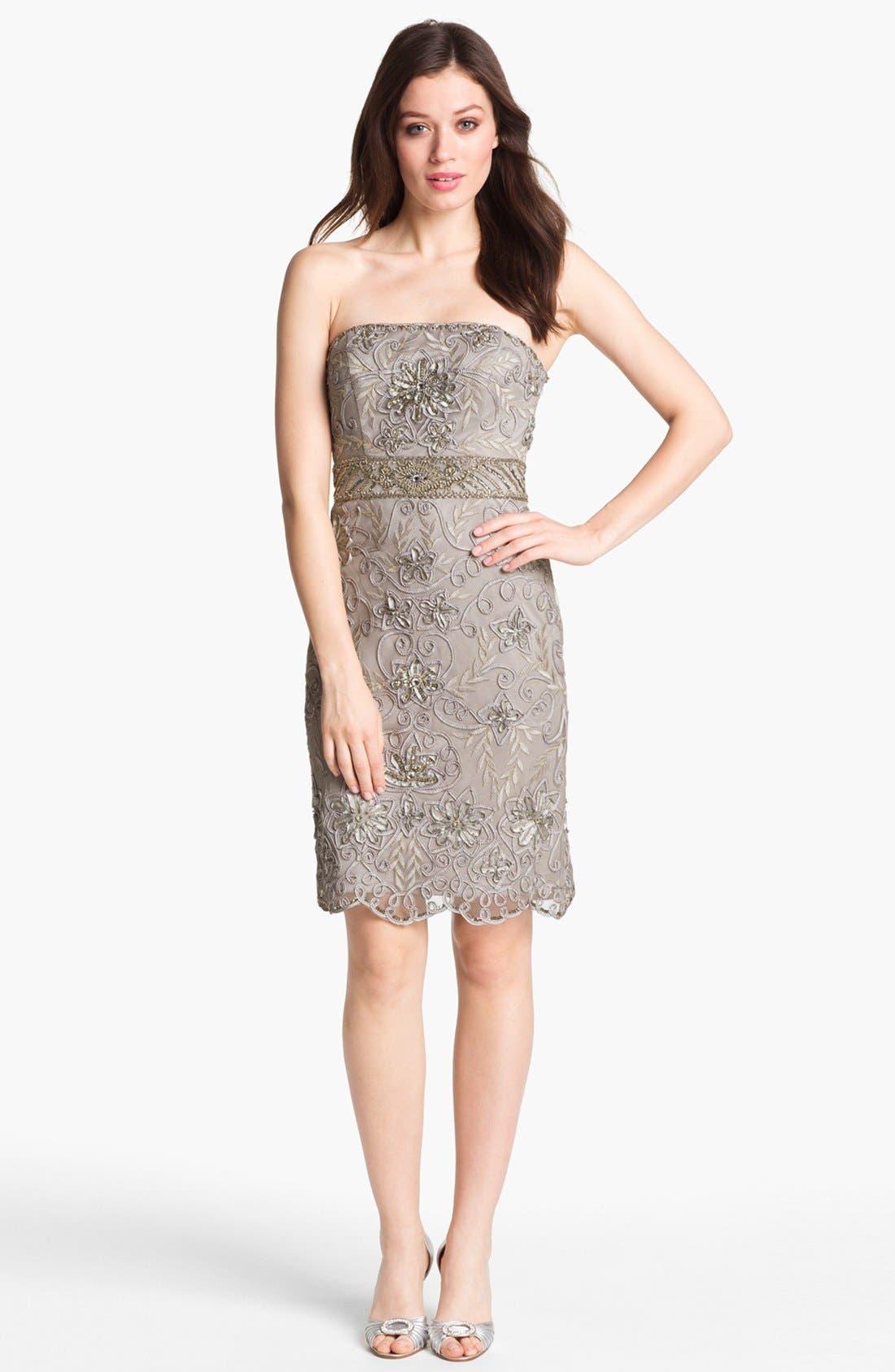 Main Image - Sue Wong Embellished Strapless Sheath Dress