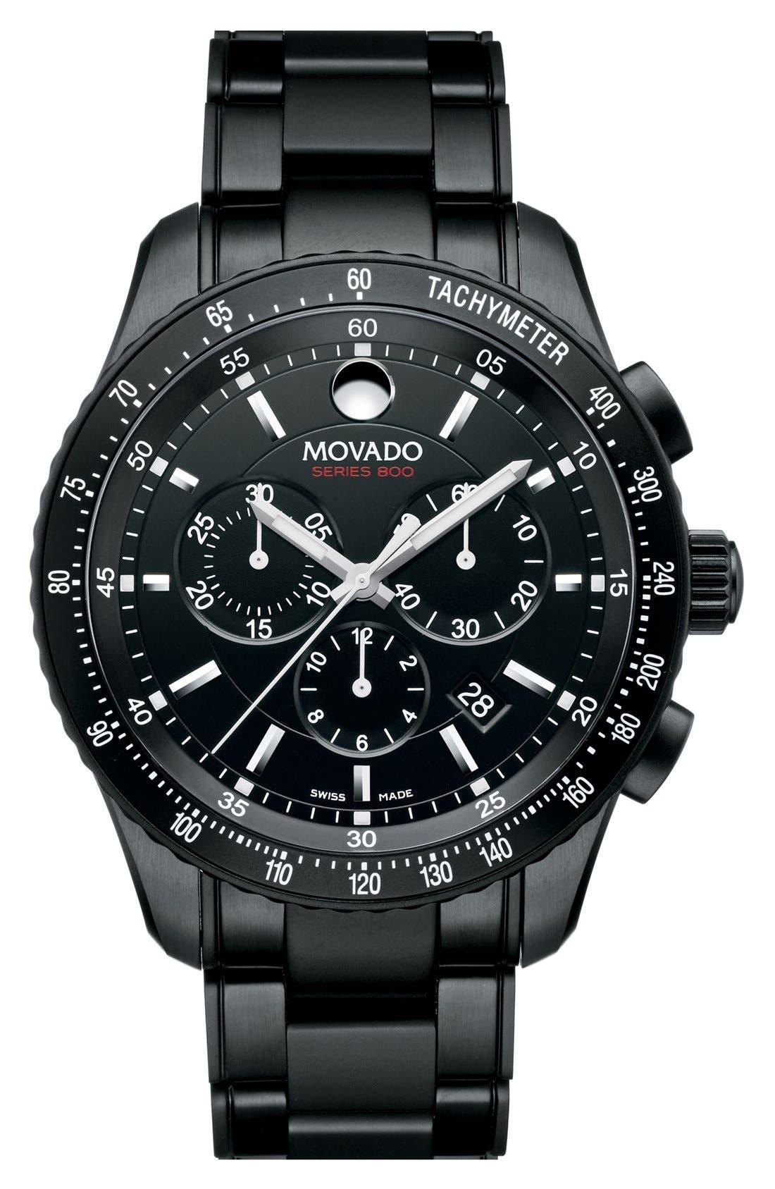 Alternate Image 1 Selected - Movado 'Series 800' Chronograph Bracelet Watch, 42mm