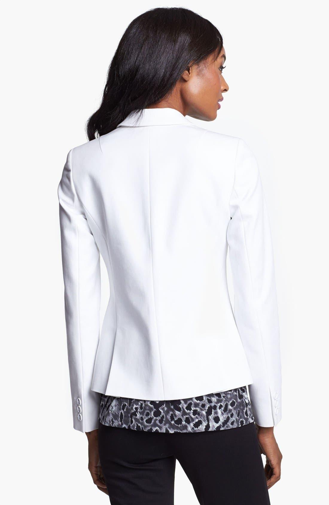 Alternate Image 2  - Anne Klein One Button Stretch Cotton Blazer