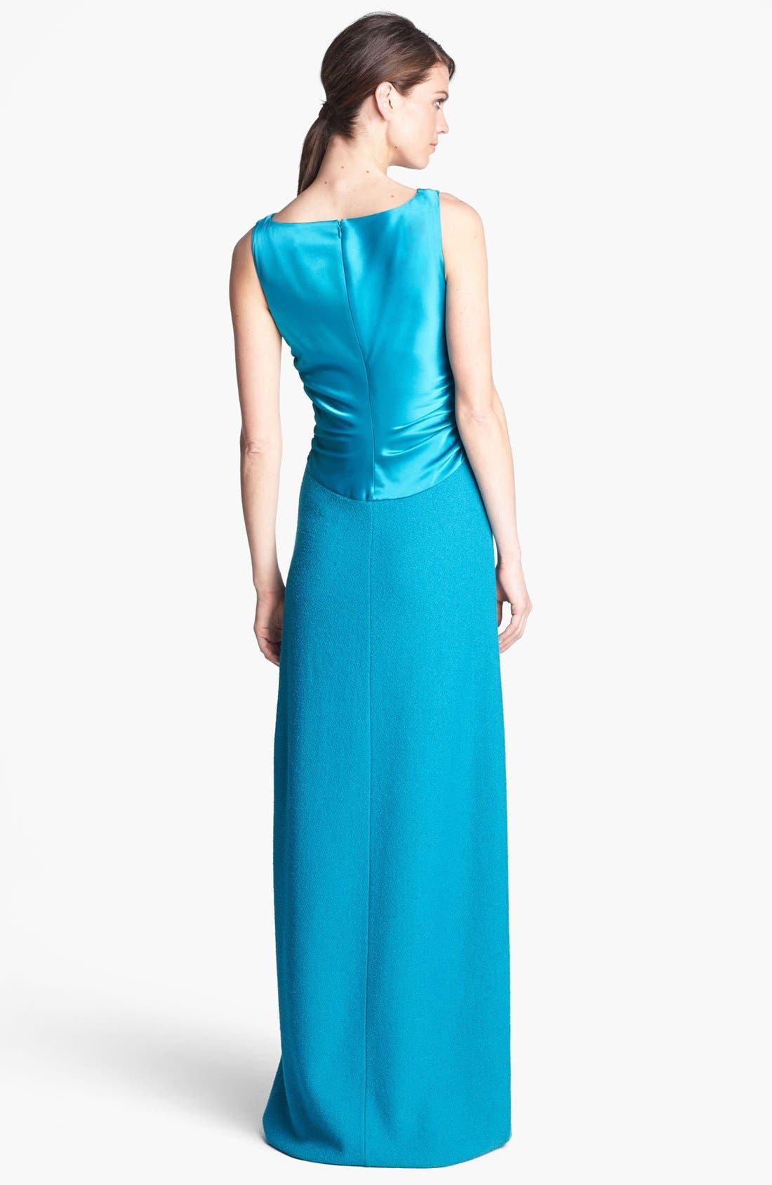Alternate Image 2  - St. John Collection Sequin Accent Bouclé Knit Gown