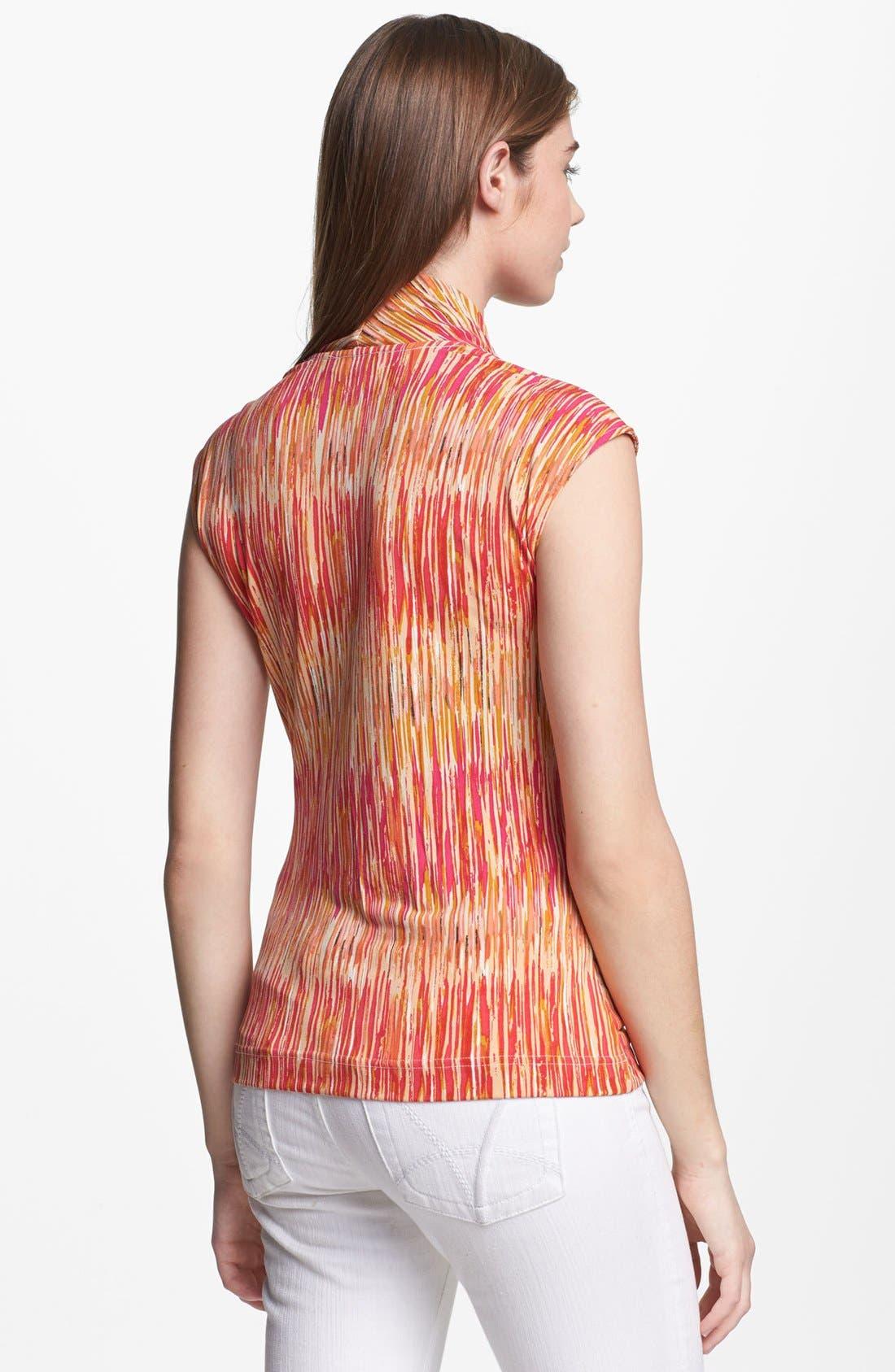 Alternate Image 2  - Vince Camuto Print Faux Wrap Top