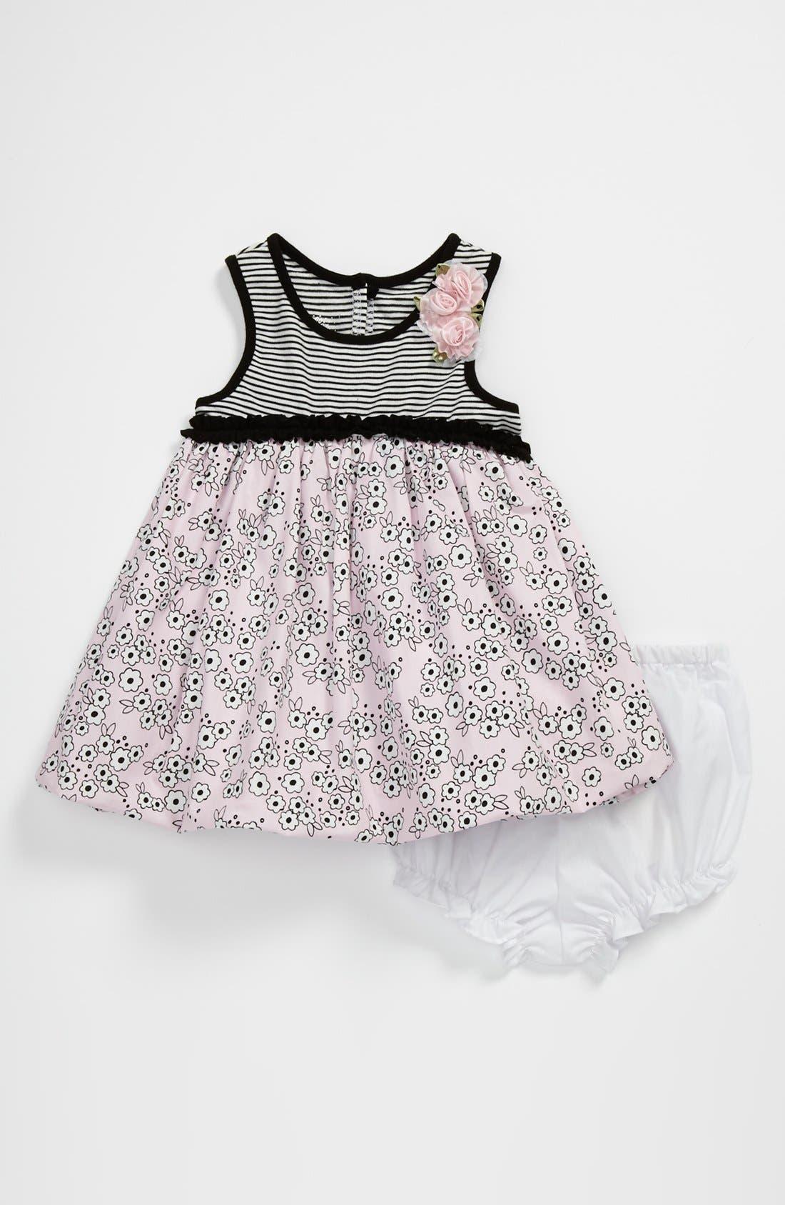 Main Image - Pippa & Julie Bubble Skirt Dress (Baby Girls)