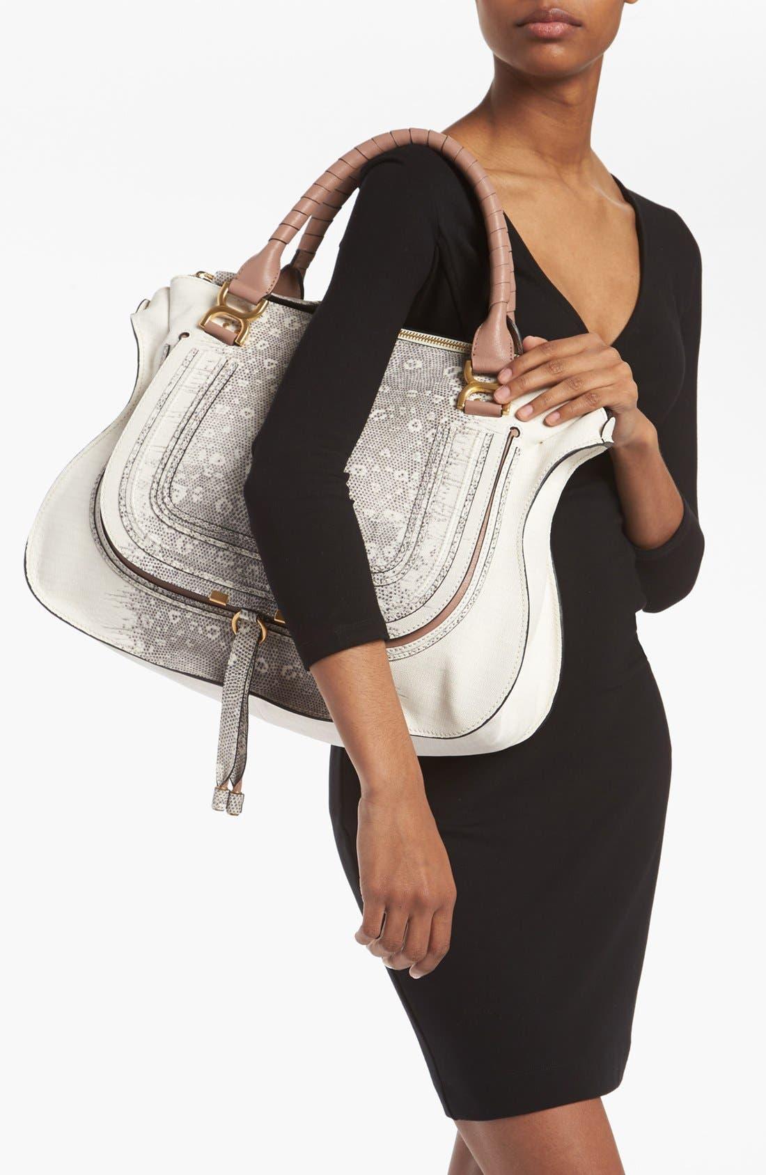 Alternate Image 2  - Chloé 'Marcie - Large' Lizard Print Leather Shoulder Bag
