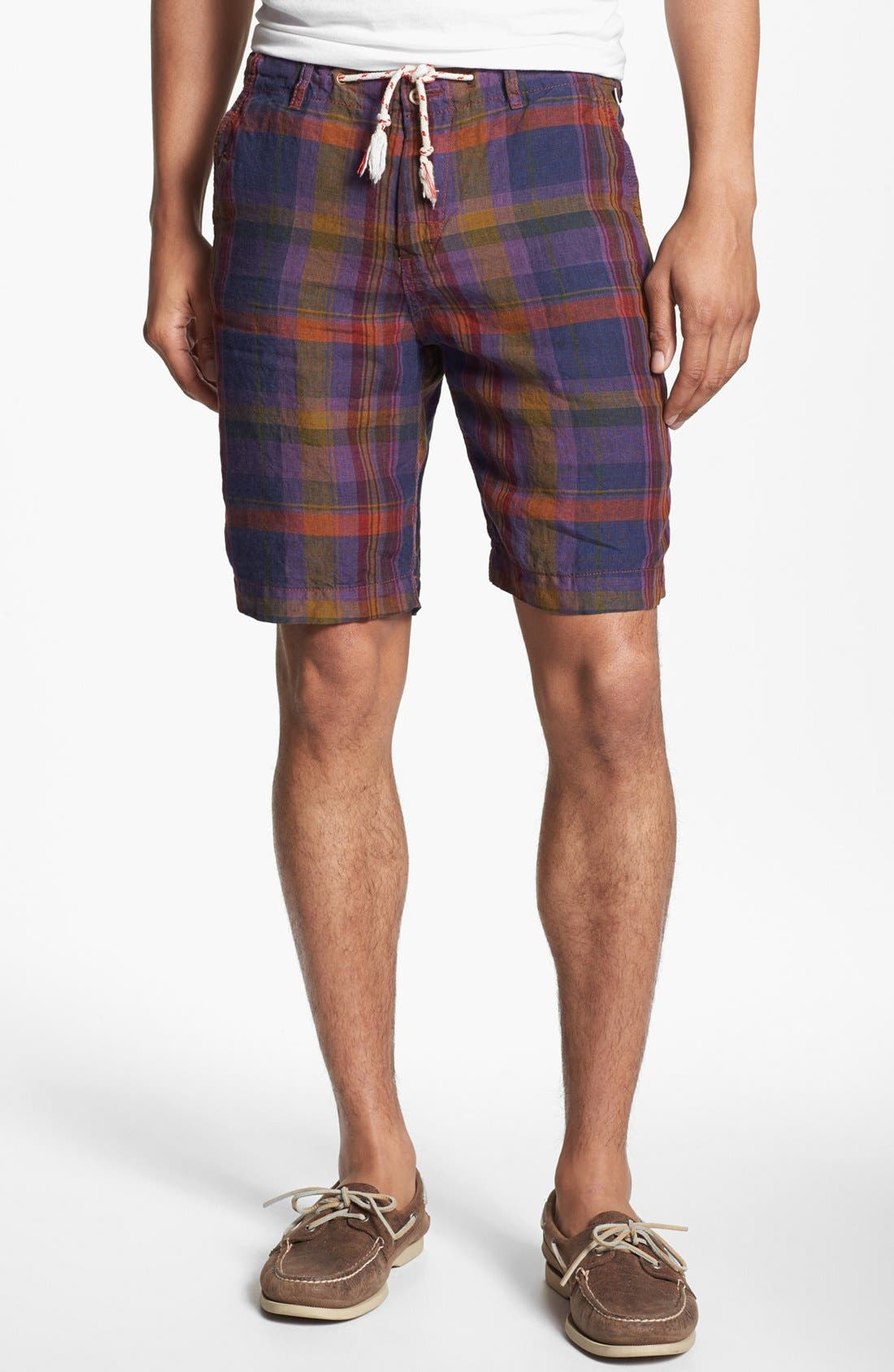 Main Image - Shirt by Shirt 'Guam' Plaid Shorts
