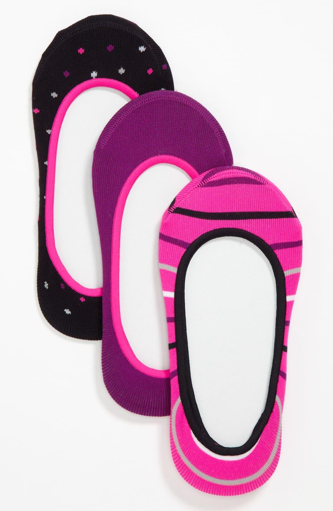 Alternate Image 1 Selected - Nordstrom Microfiber Sock Liners (3-Pack) (Toddler & Little Girls)