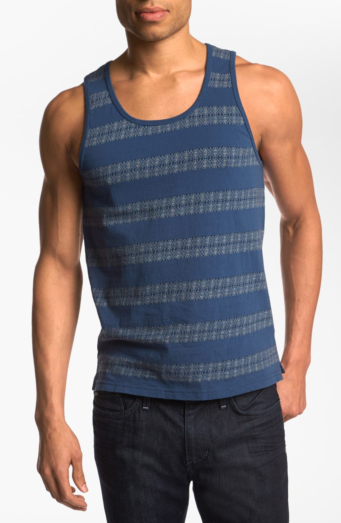 Alternate Image 1 Selected - Burkman Bros Jacquard Stripe Tank Top